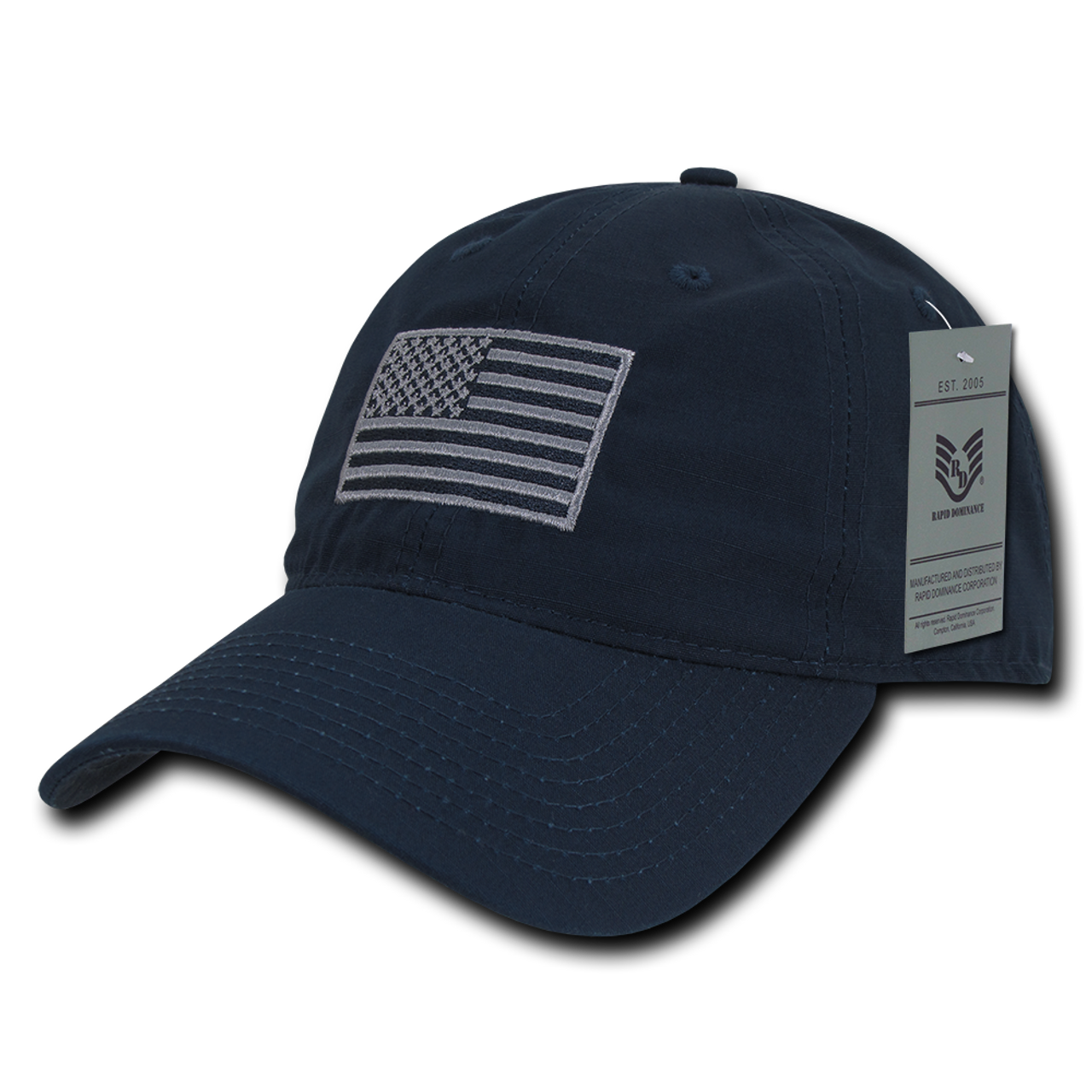 933a700014d61 S73 - USA Flag Cap - Relaxed Ripstop - Cotton - Dark Blue -  USMILITARYHATS.COM