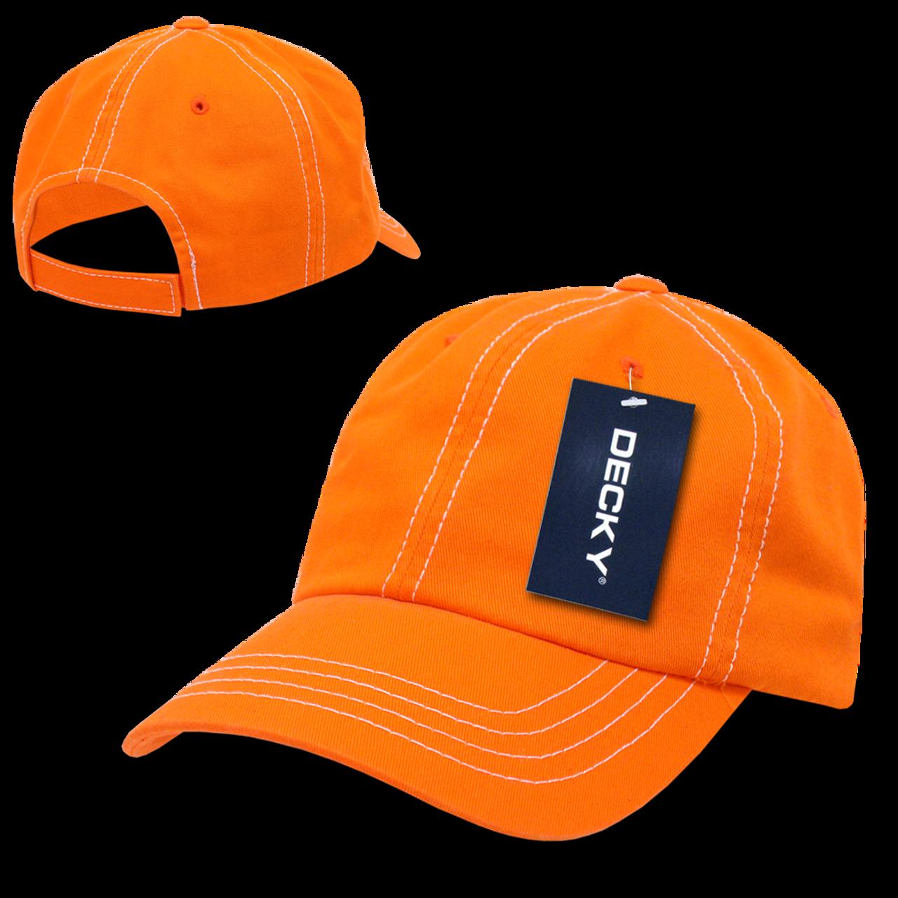Contra-Stitch Washed Polo Cap - Orange White - USMILITARYHATS.COM b136a6c5b0af