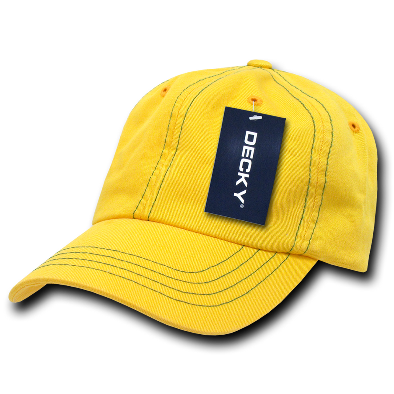 Contra-Stitch Washed Polo Cap - Yellow Kelly Green - USMILITARYHATS.COM dc284c24f771