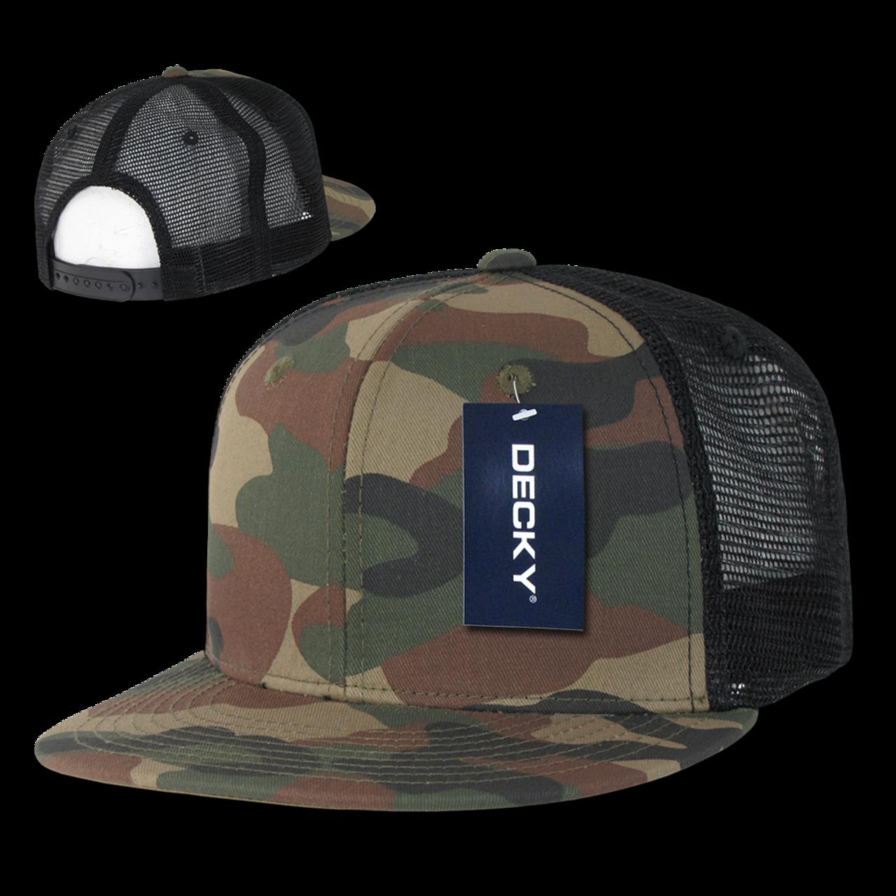 Woodland DECKY 5 Panel Flat Bill Trucker Cap Hats