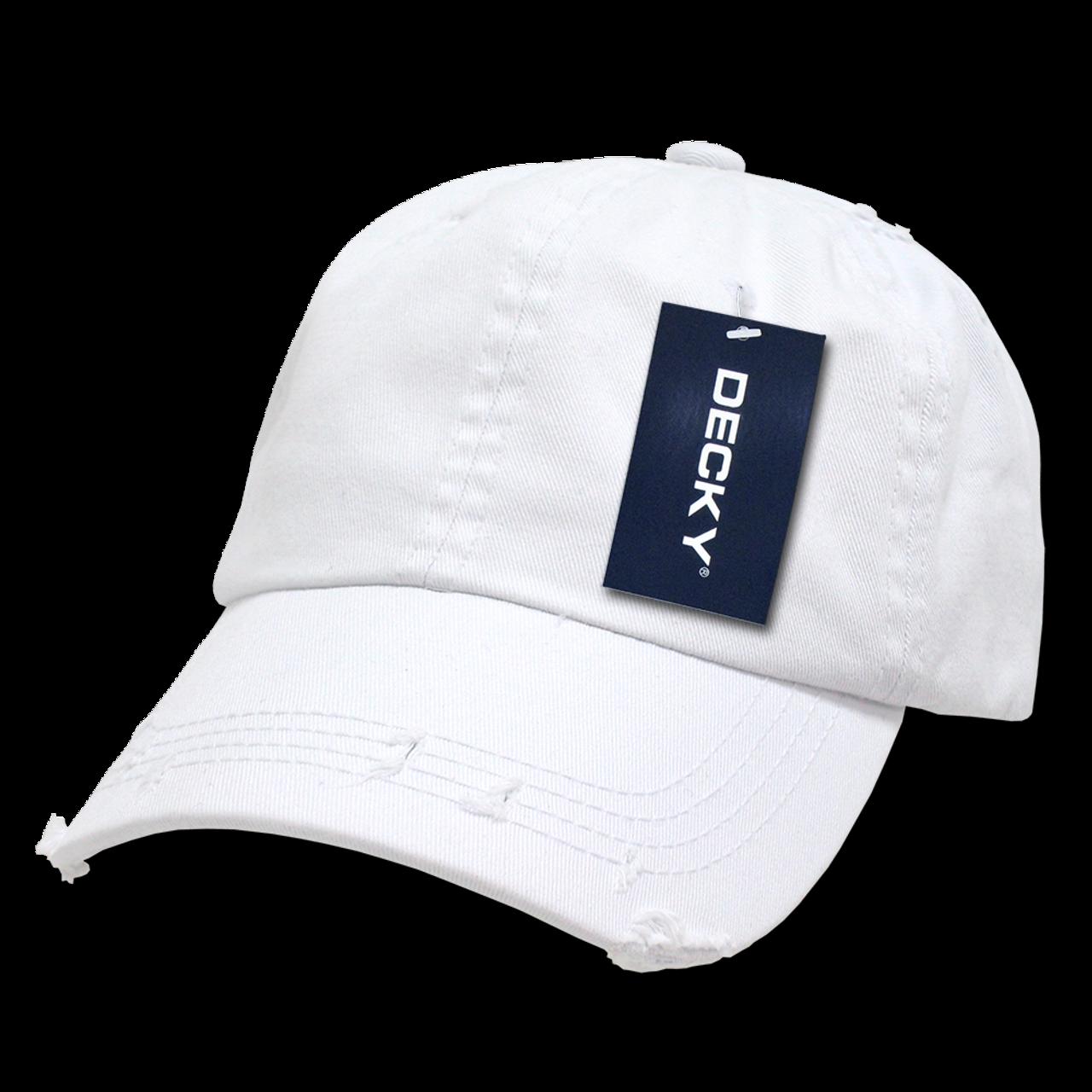 Vintage Frayed Polo Cap - White - U.S. Military Hats.com f8da2704a9a0