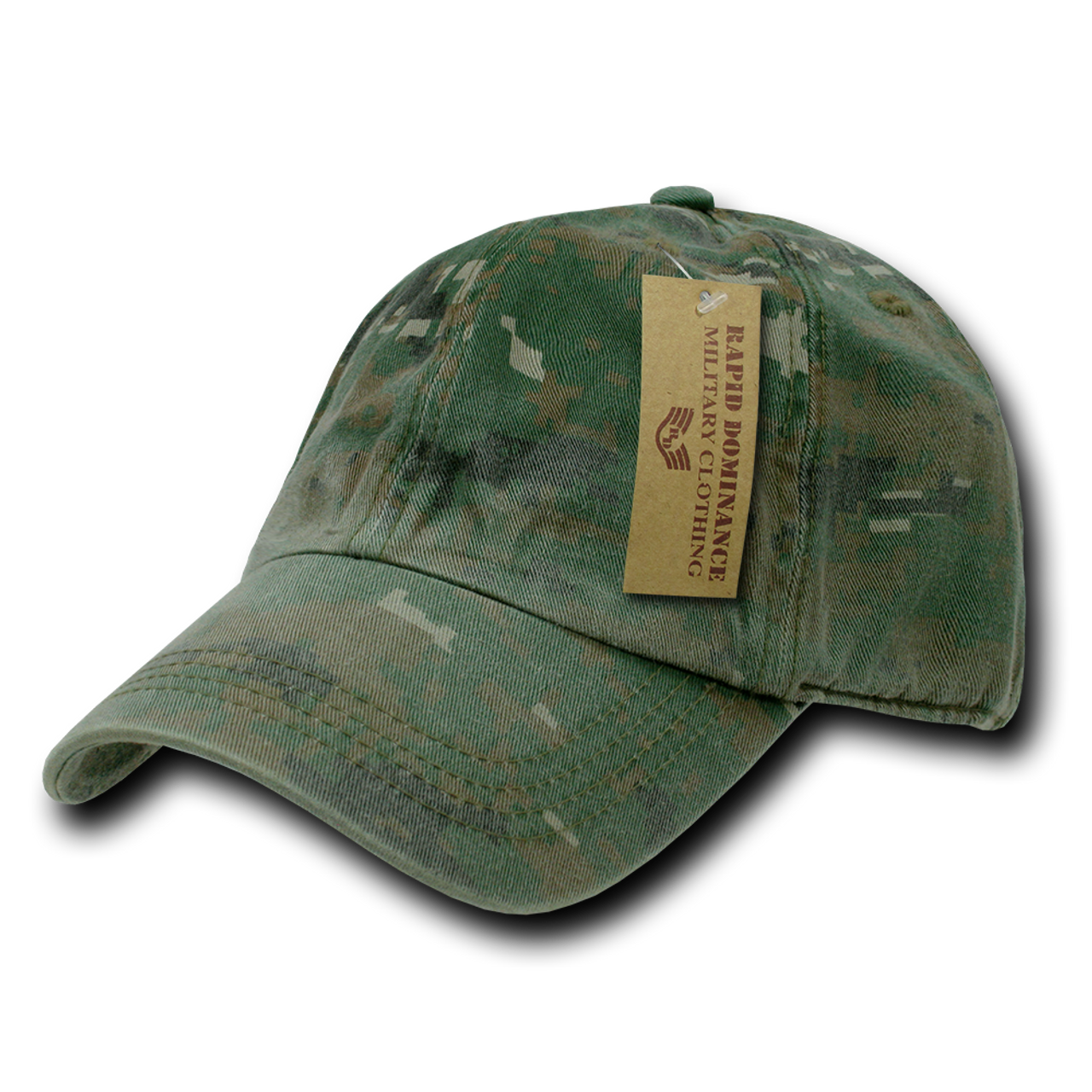 5acad56d7 ... R830 - Relaxed Cotton Polo Cap - Vintage Washed - Woodland Digital Camo  ...