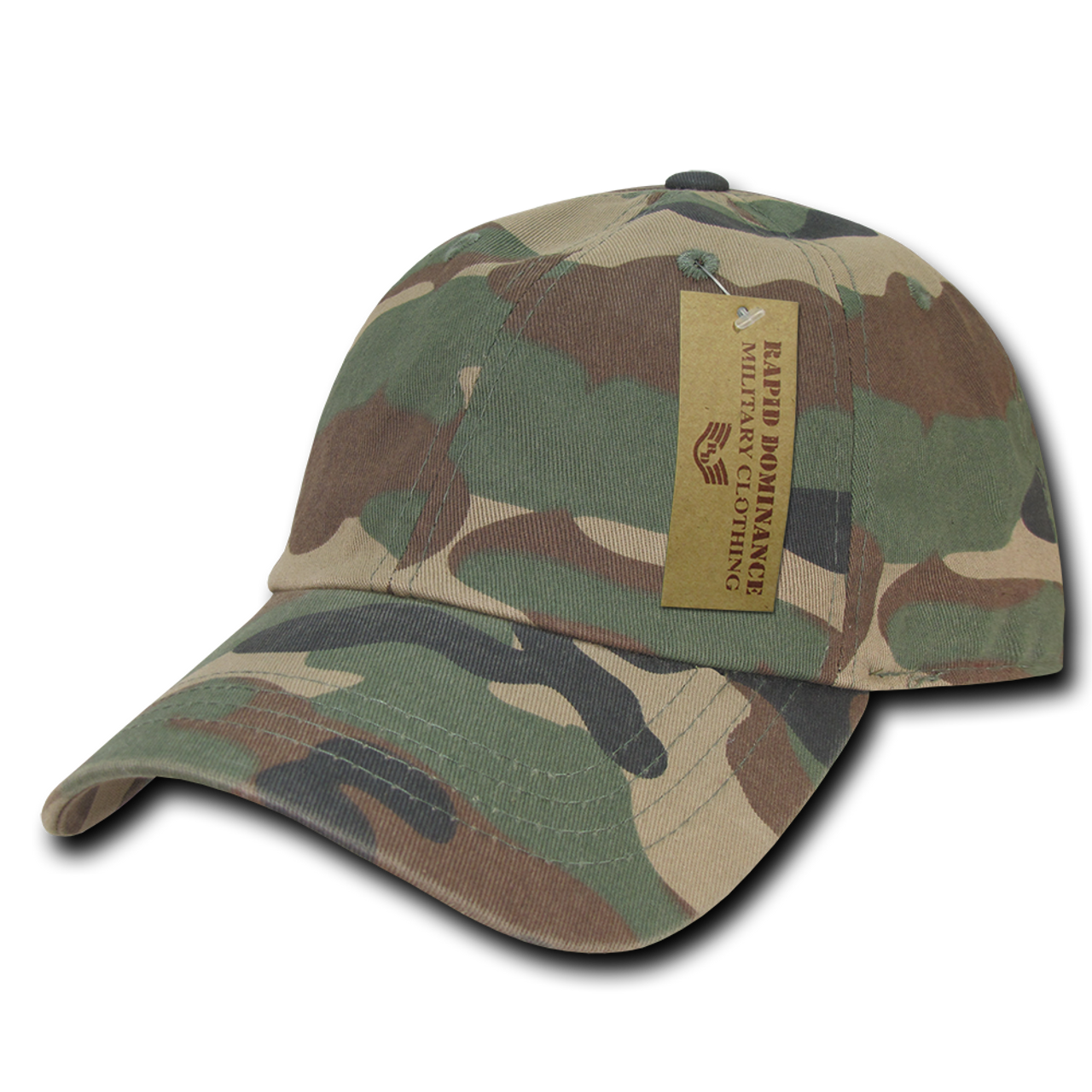 373f07a01 R830 - Relaxed Cotton Polo Cap - Vintage Washed - Woodland Camo