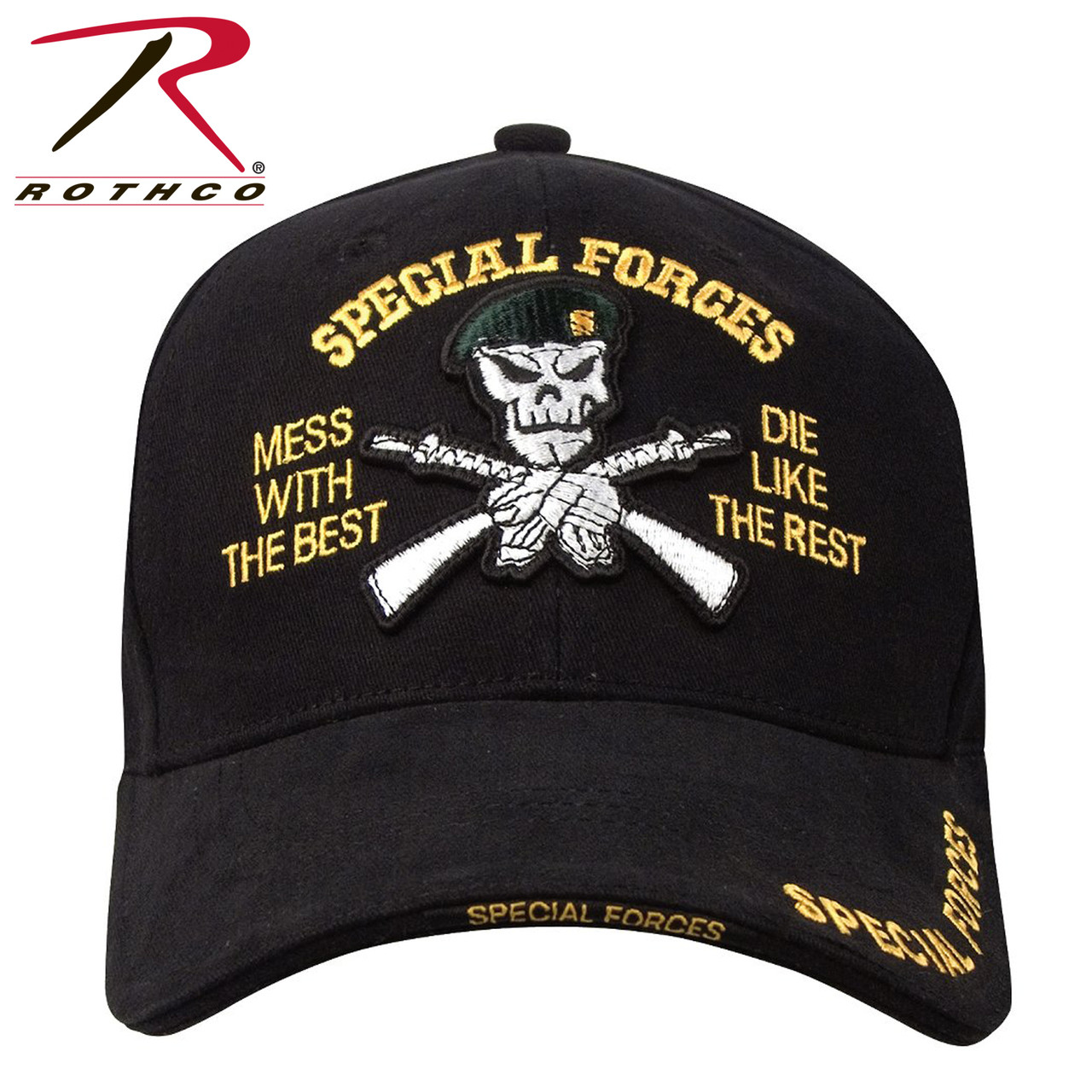 4431df7818e2c Rothco Deluxe Low Profile Special Forces Insignia Cap