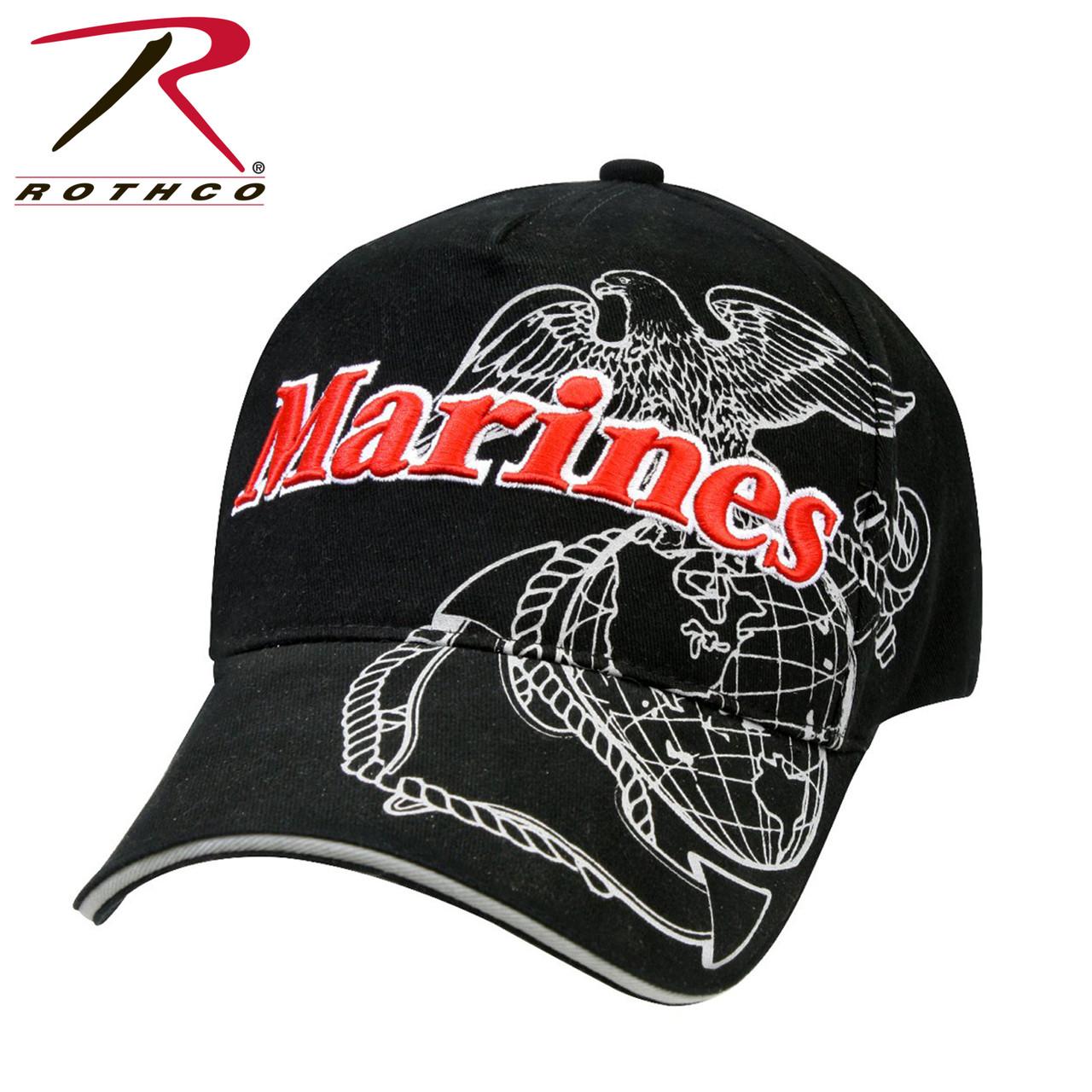 e022eb2dd71 Rothco Deluxe Marines G A Low Profile Insignia Cap
