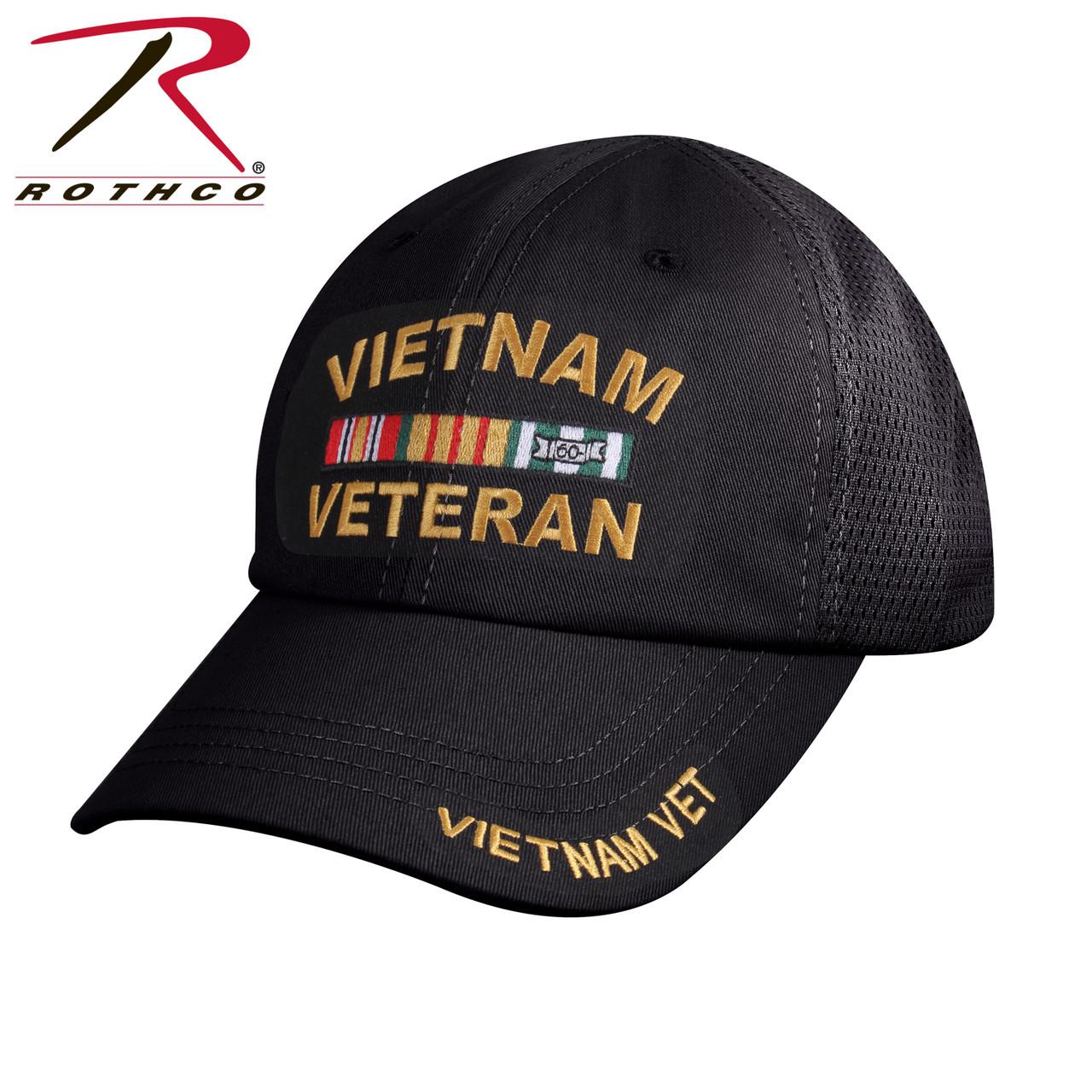 bcc0c61c410 Rothco Vietnam Veteran Tactical Mesh Back Cap - US Military Hats