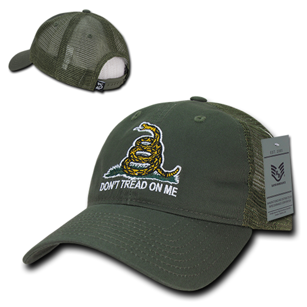 "US NAVY GADSDEN FLAG DON/'T TREAD ON ME DTOM Cap Hat /""Rapid Dominance/"""