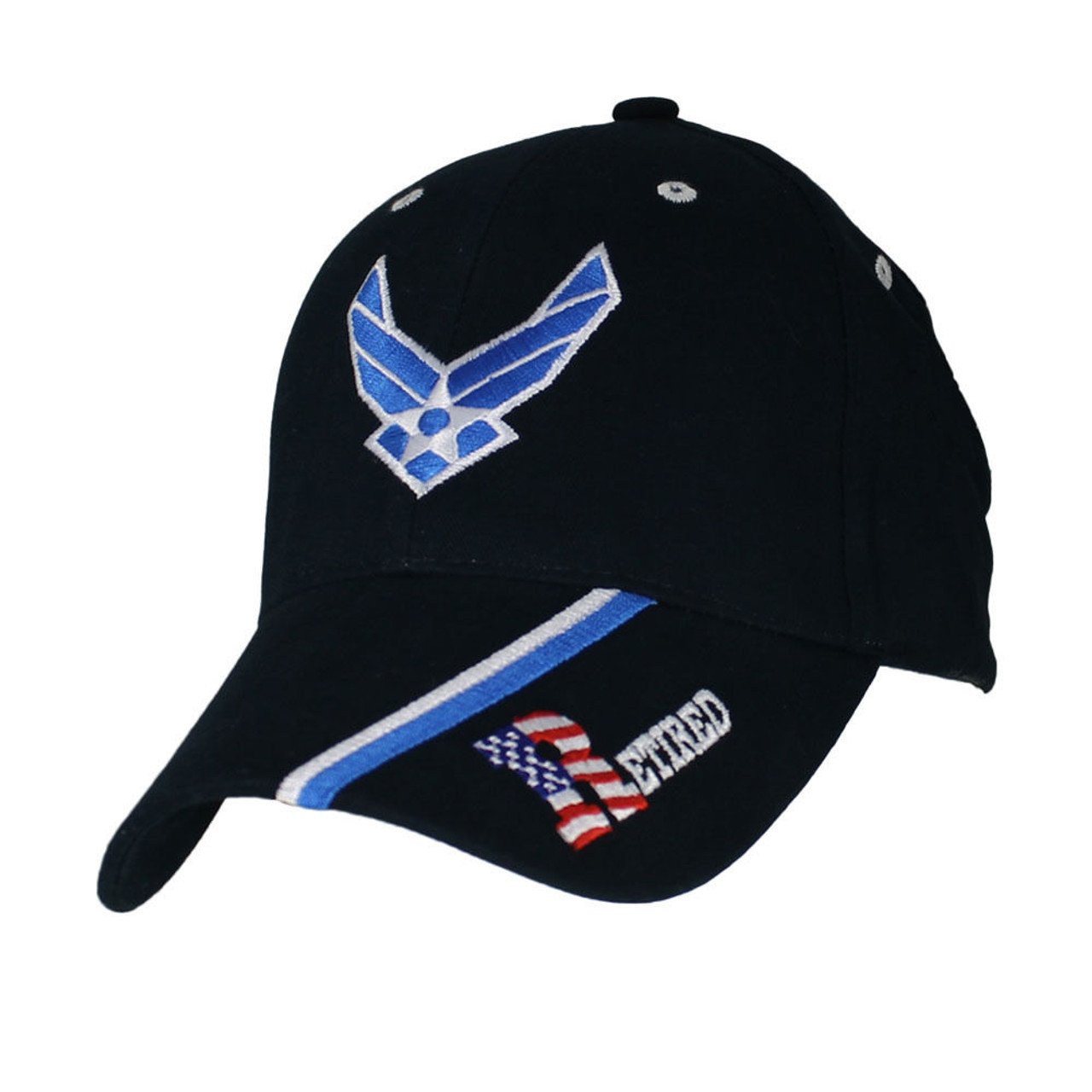 6621 - U.S. Air Force Retired Cap - Cotton - Dark Blue - USMILITARYHATS.COM 12de0cdb40d4