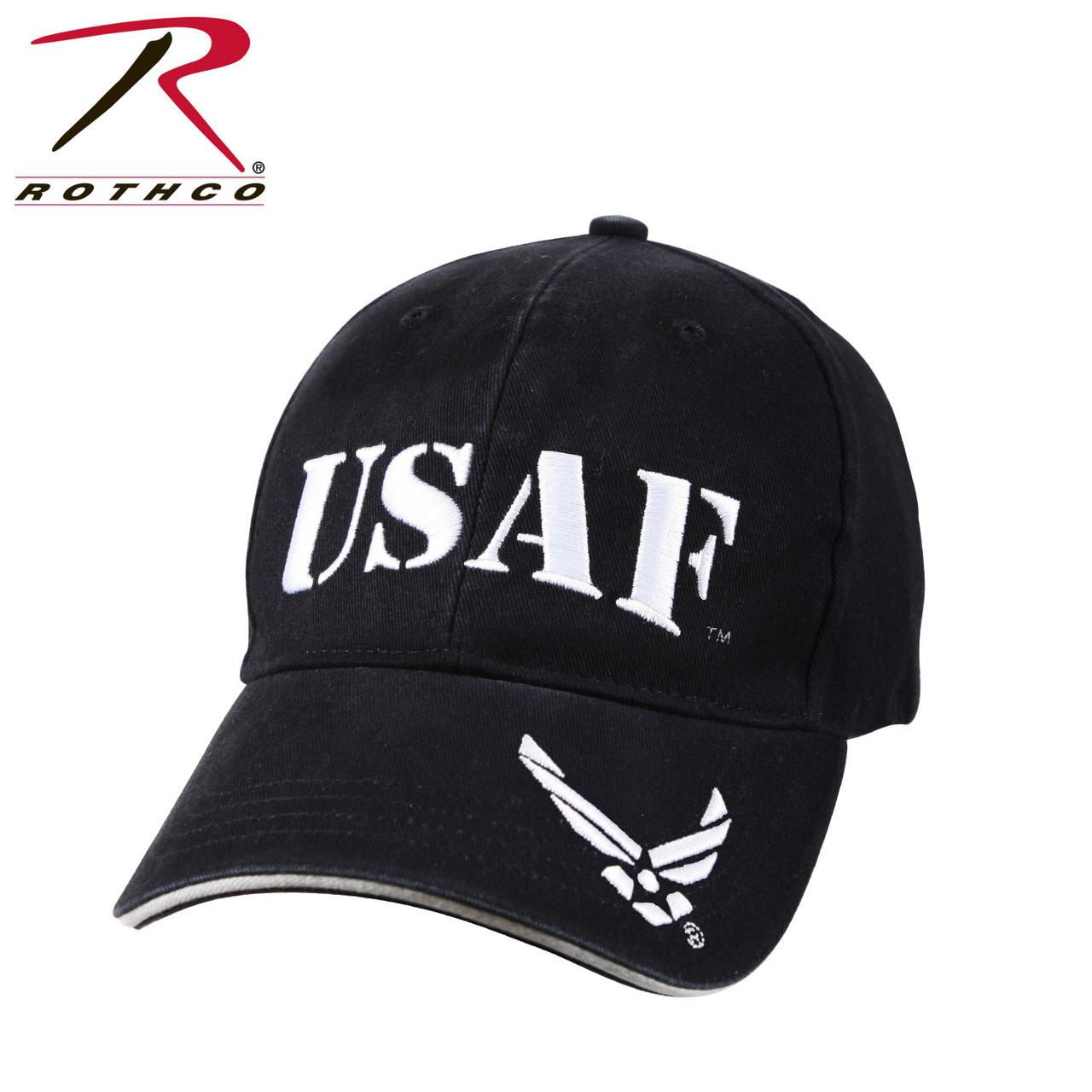 a6c9ae07fd5ed Rothco USAF Cap Embroidered Low Profile Cotton (Item #9886) - Washed Navy  Blue - USMILITARYHATS.COM