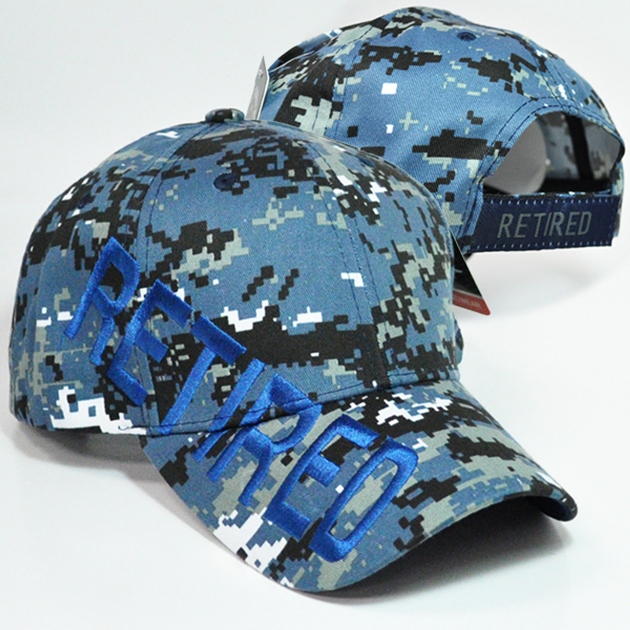 NAVY  WITH SHADOW  BLUE CAMOUFLAGE HAT MILITARY CAP U.S