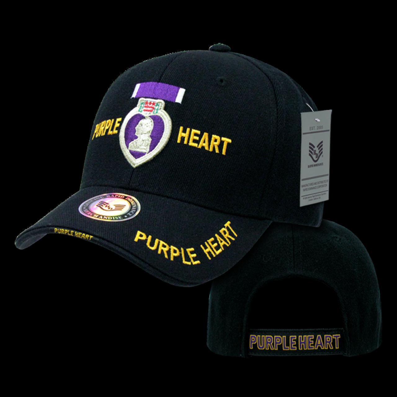 Purple Heart Rapid Dominance Delux Military Law Enforcement Cap Hat