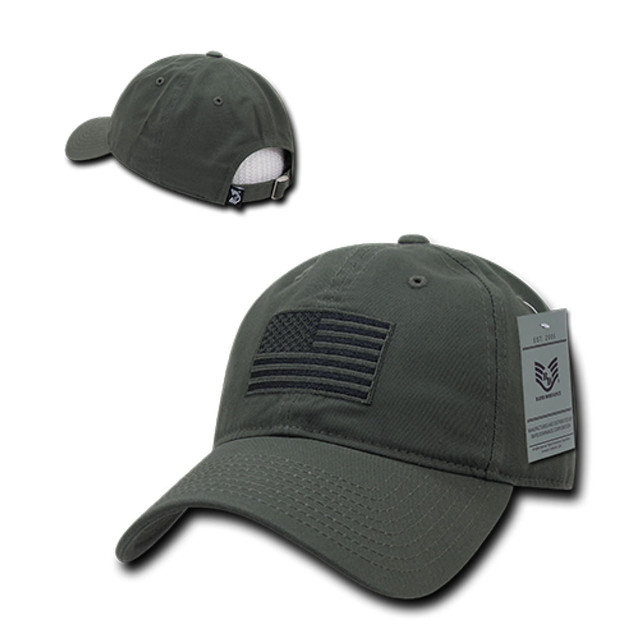 Tactical Cap Relaxed Cotton US Flag Olive - US Military Hats a8a6a9b1282