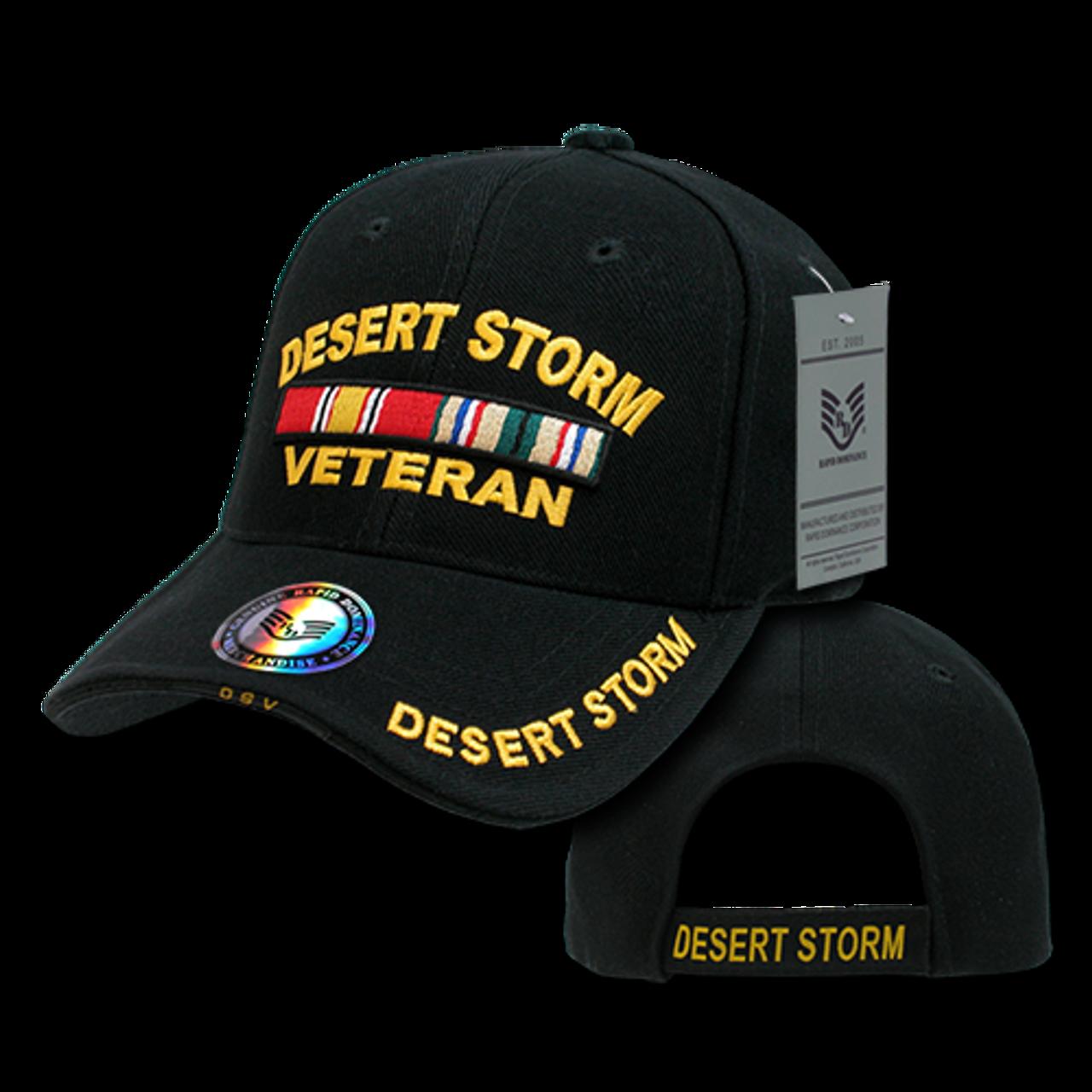 RD - Military Cap - Desert Storm Veteran - Black - USMILITARYHATS.COM 23579d8a435a