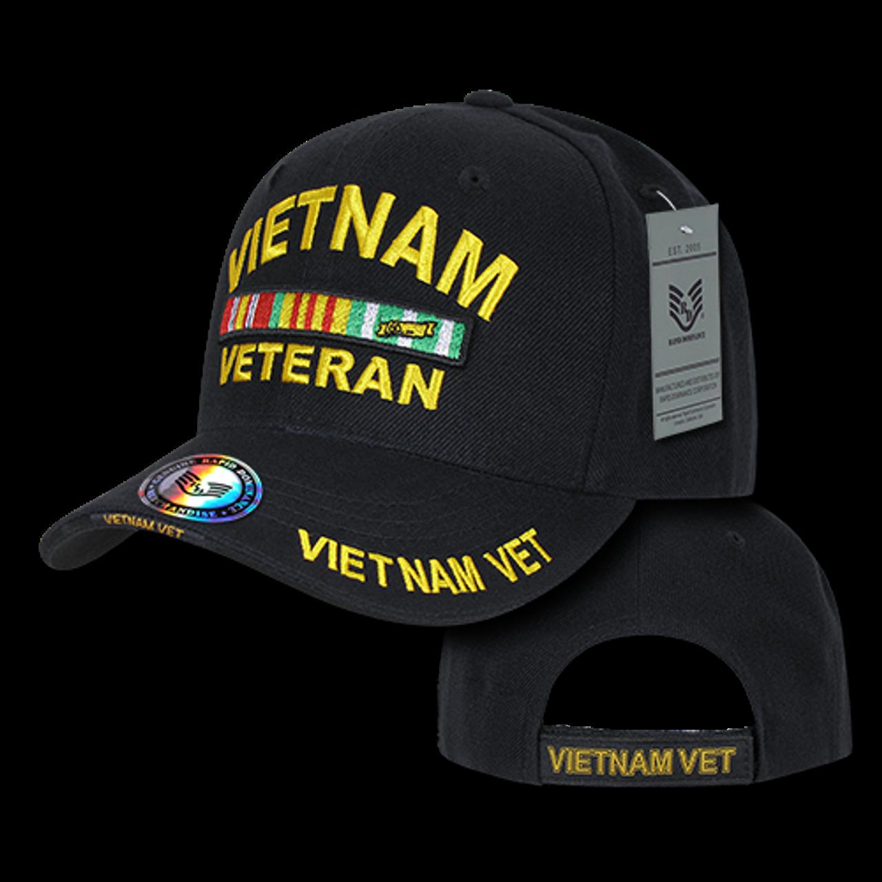 c913cbd4b S001 - Military Cap - Vietnam Veteran - Black