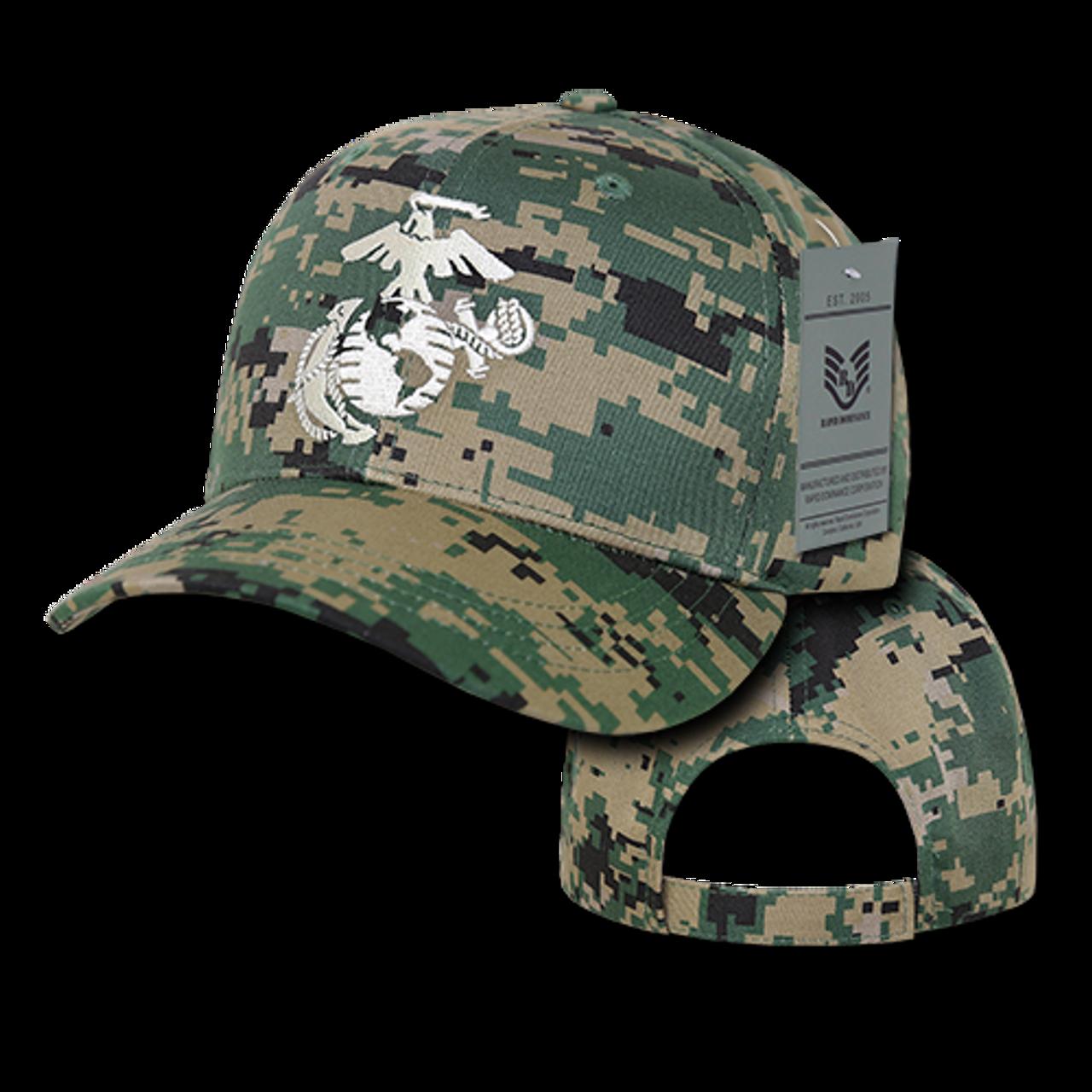 S76 - Military Hat - U.S. Marines Logo - MCU - USMILITARYHATS.COM 5ecc94d61f09