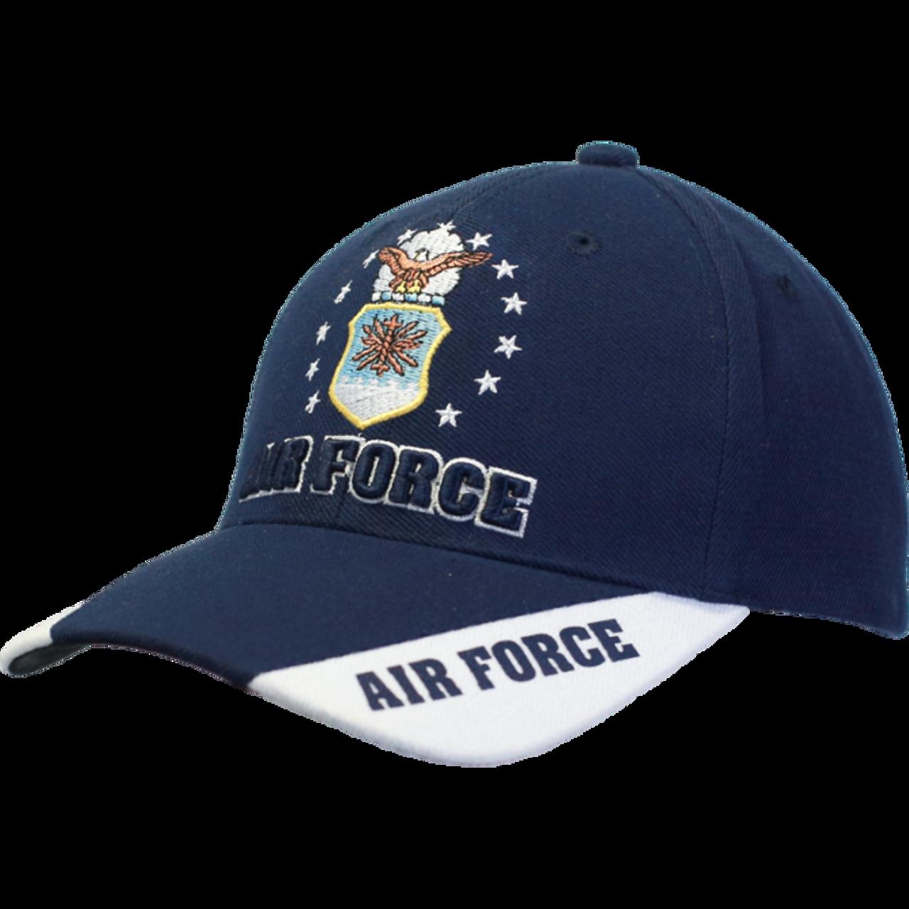 36e4d6e2fbe ... 08579 - U.S. Air Force Caps - 3-Way Style - Dark Blue White ...