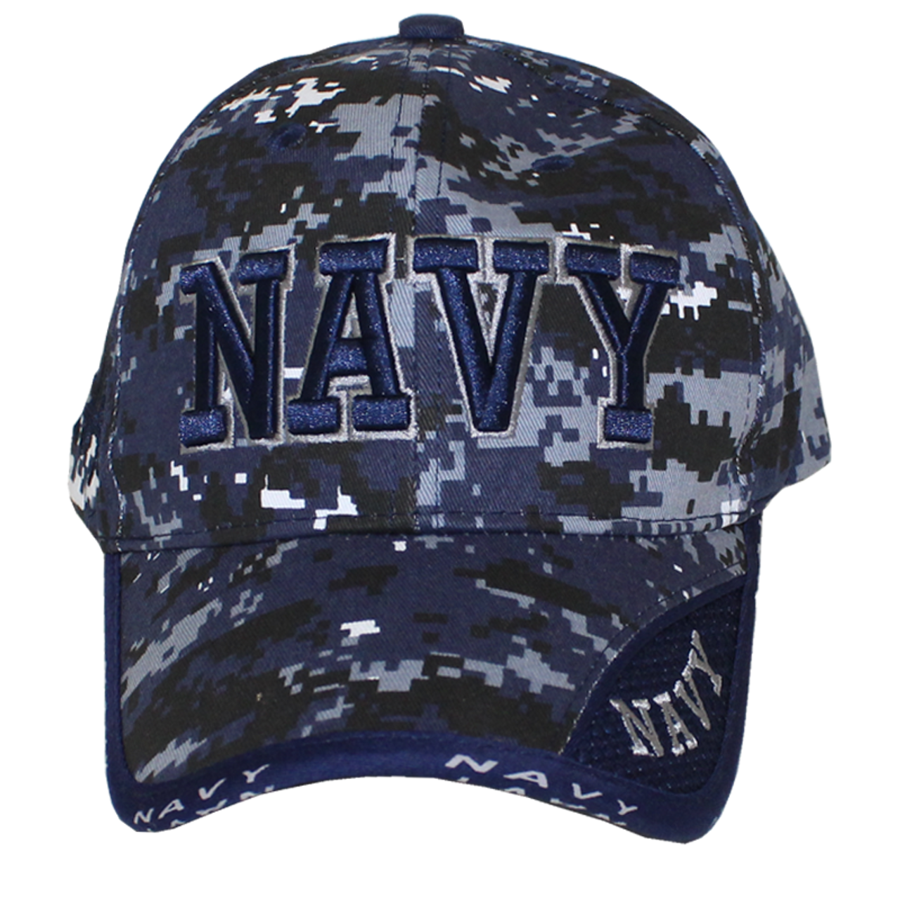 10077 - Military Hat - U.S. Navy - Blue Digital Camouflage ... f4ecb01b4eb