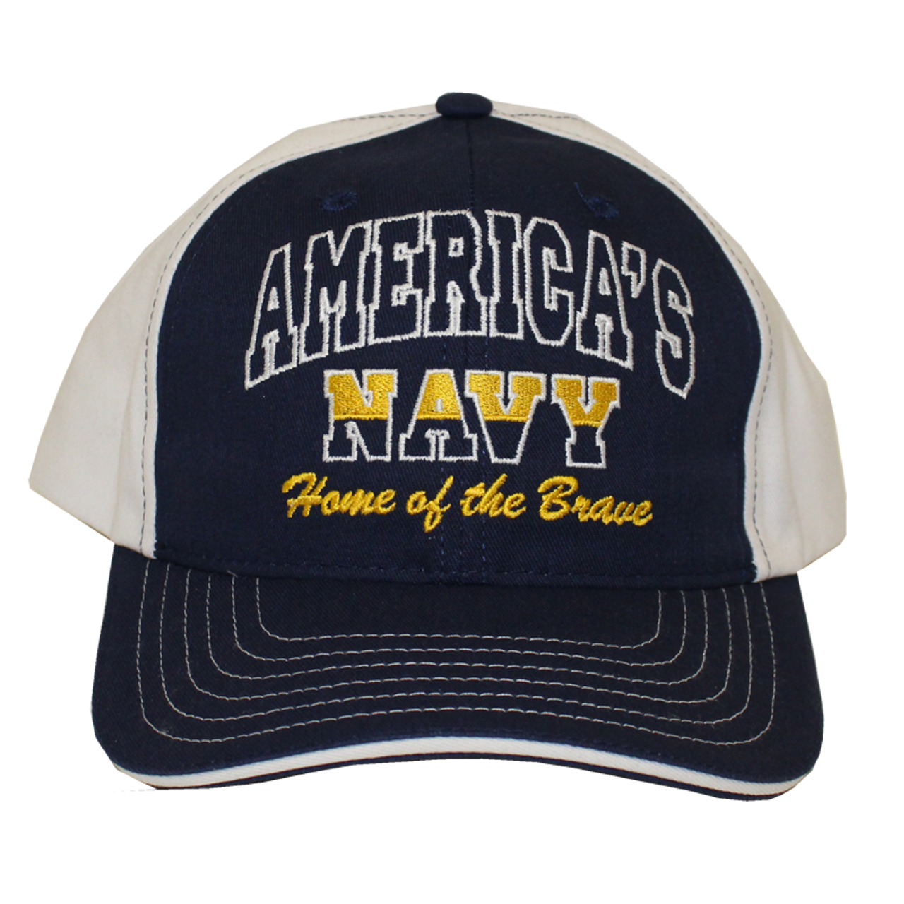 12252 - U S  Navy Hat America Home of the Brave Made In USA