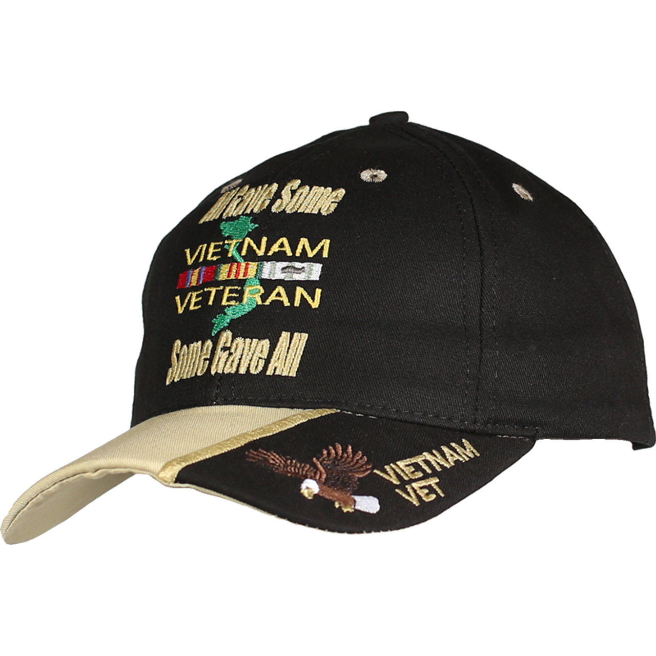 ce6accf9914d9 JWM 21639 Military Caps Made In USA Vietnam Veteran All Gave Some  Some  Gave All