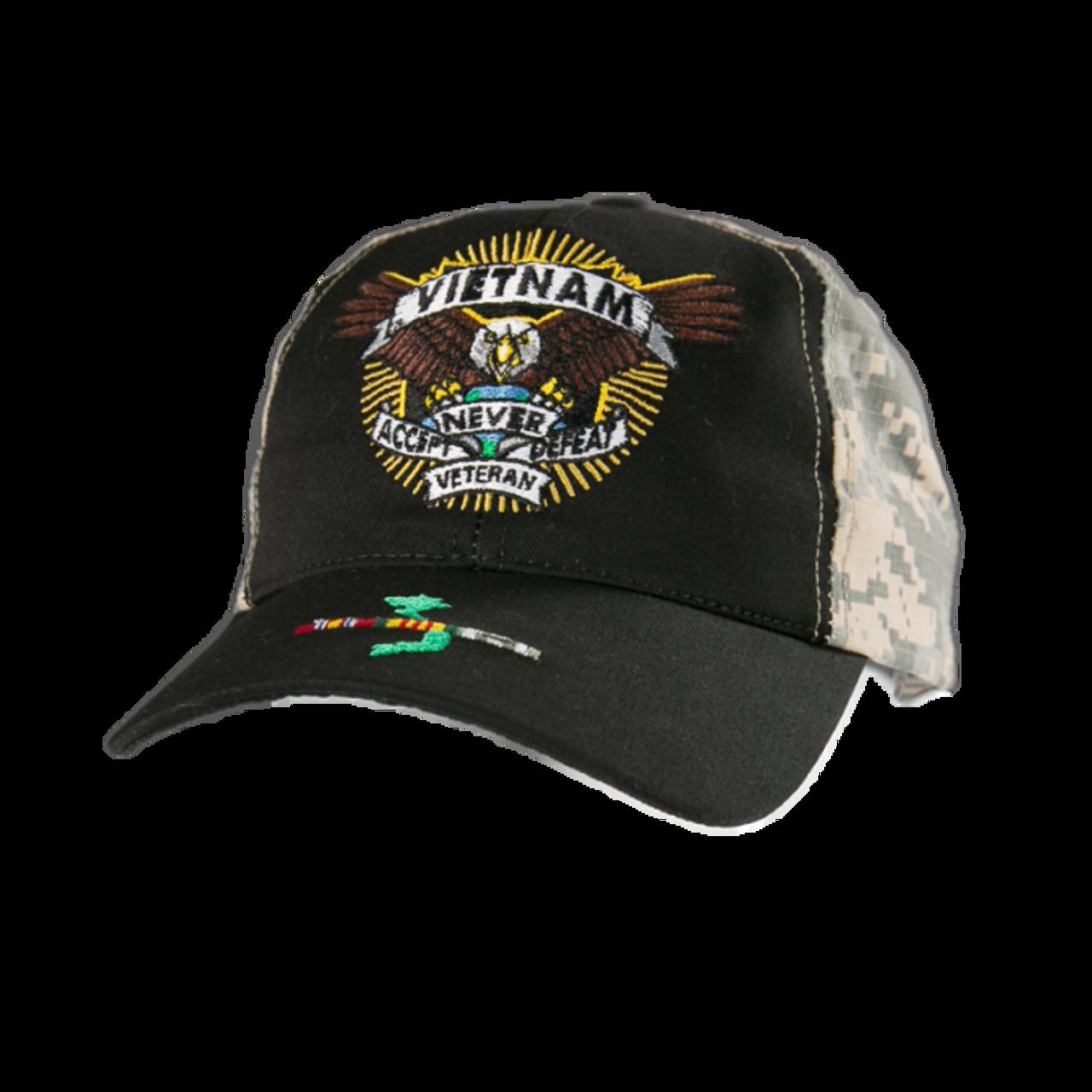 98b8ce41879e3 23404 - Made In USA Military Hat - Vietnam Veteran - Defender ...