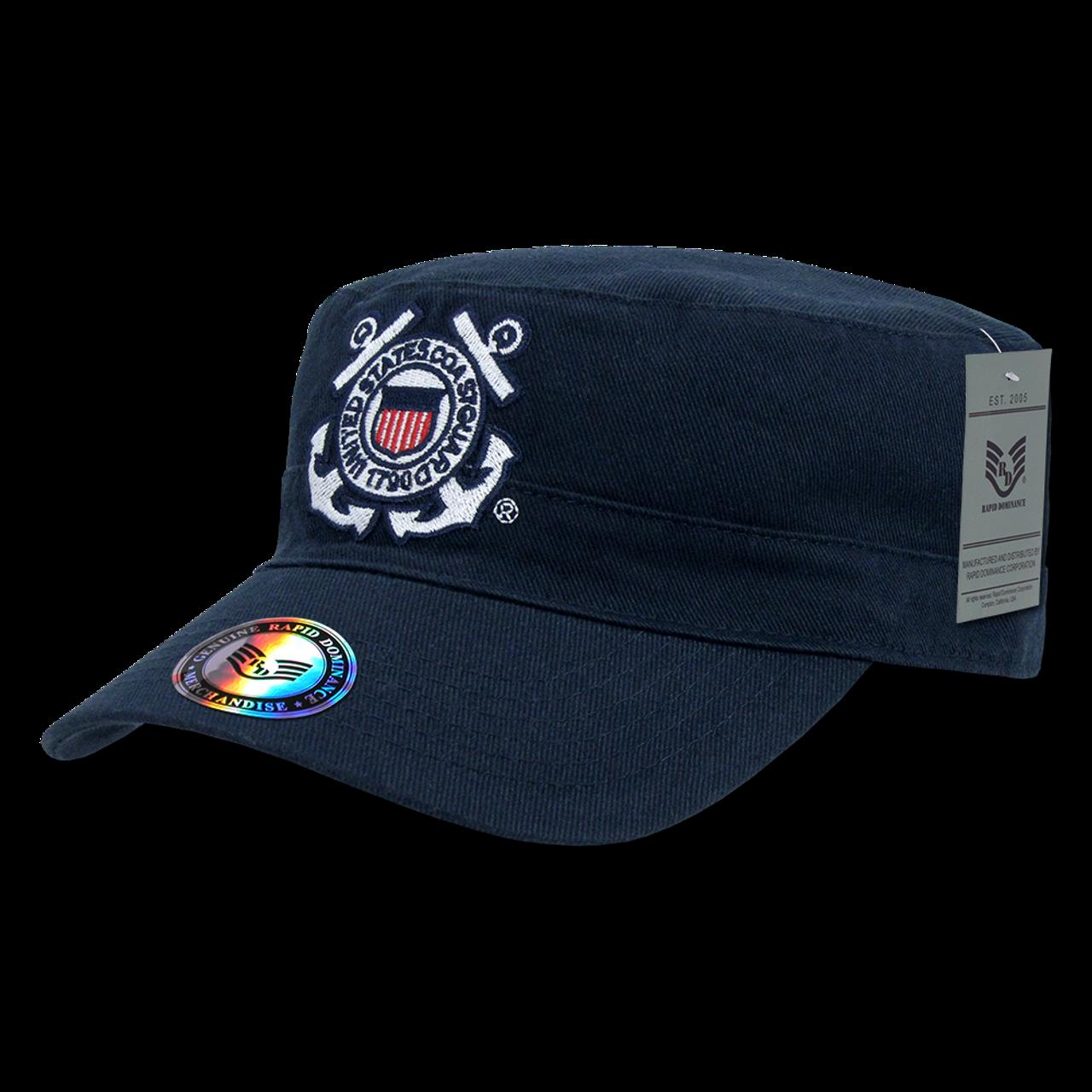 S009 - Coast Guard Patrol Cap - Vintage Military Style - Reversible - Dark  Blue