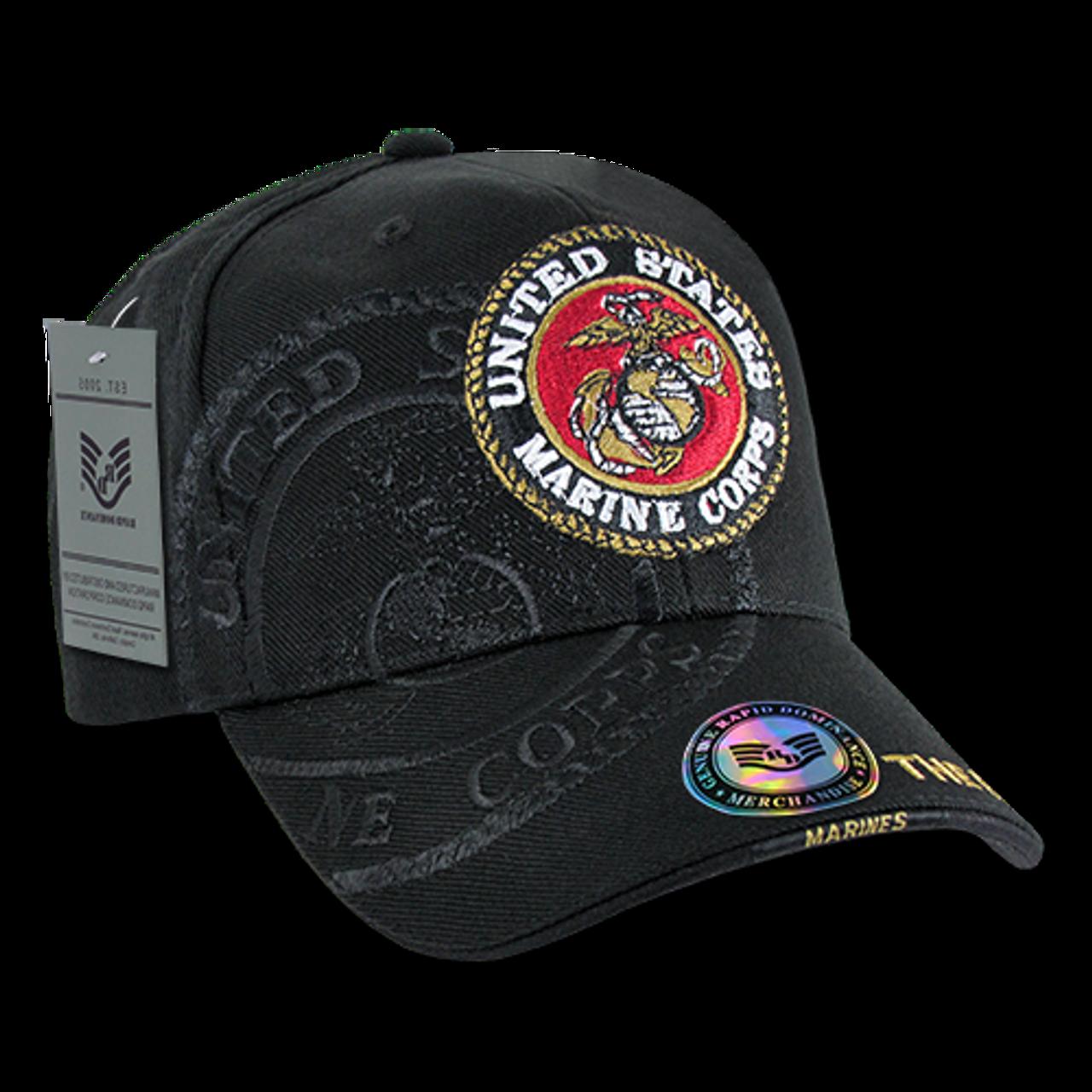 833199527c3542 ... S007 - U.S. Marines Logo Shadow Cap - Direct Embroidered - Black ...