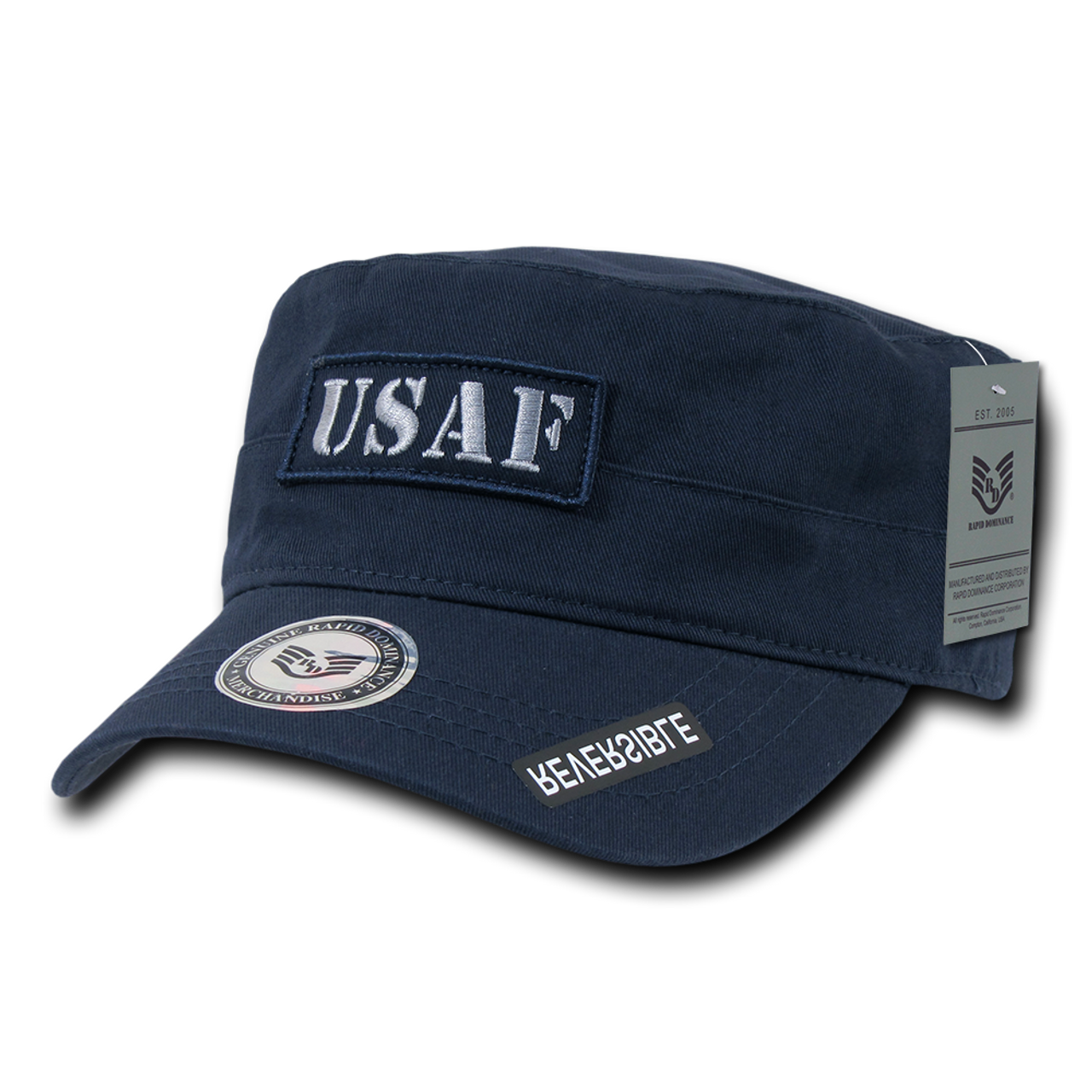 07e29fb6d81 ... S88 - Air Force Cap - USAF - Vintage Military Style - Reversible - Logo  ...