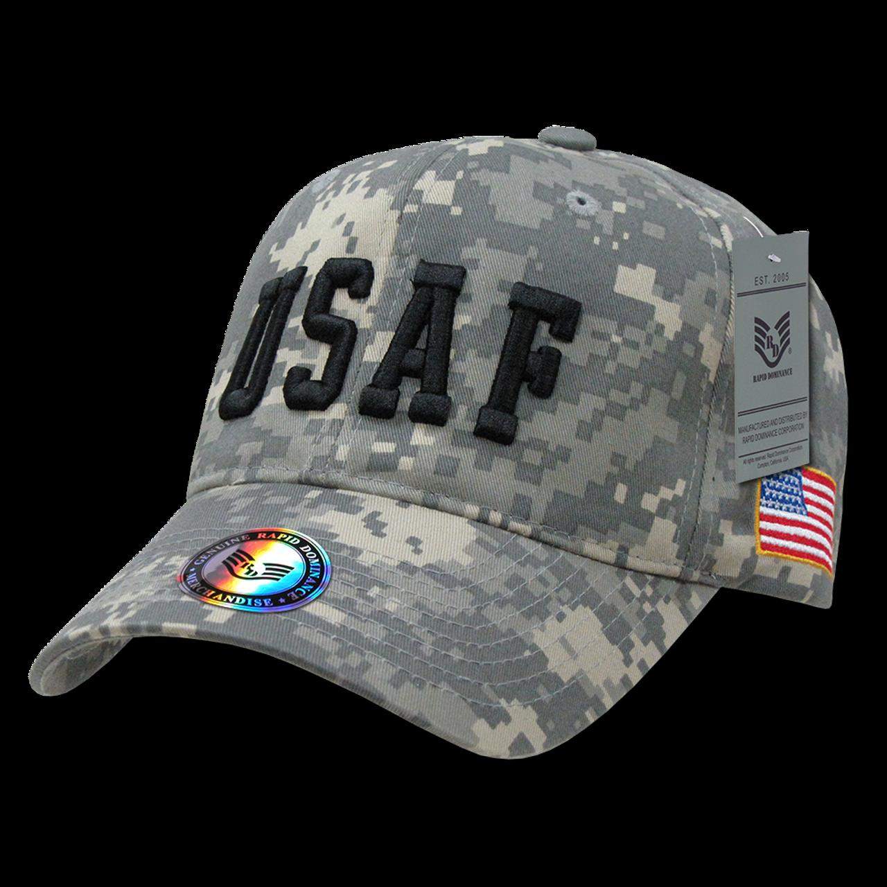 784eebfc5b2 944 - Air Force Cap USAF Text Digital Camouflage ...