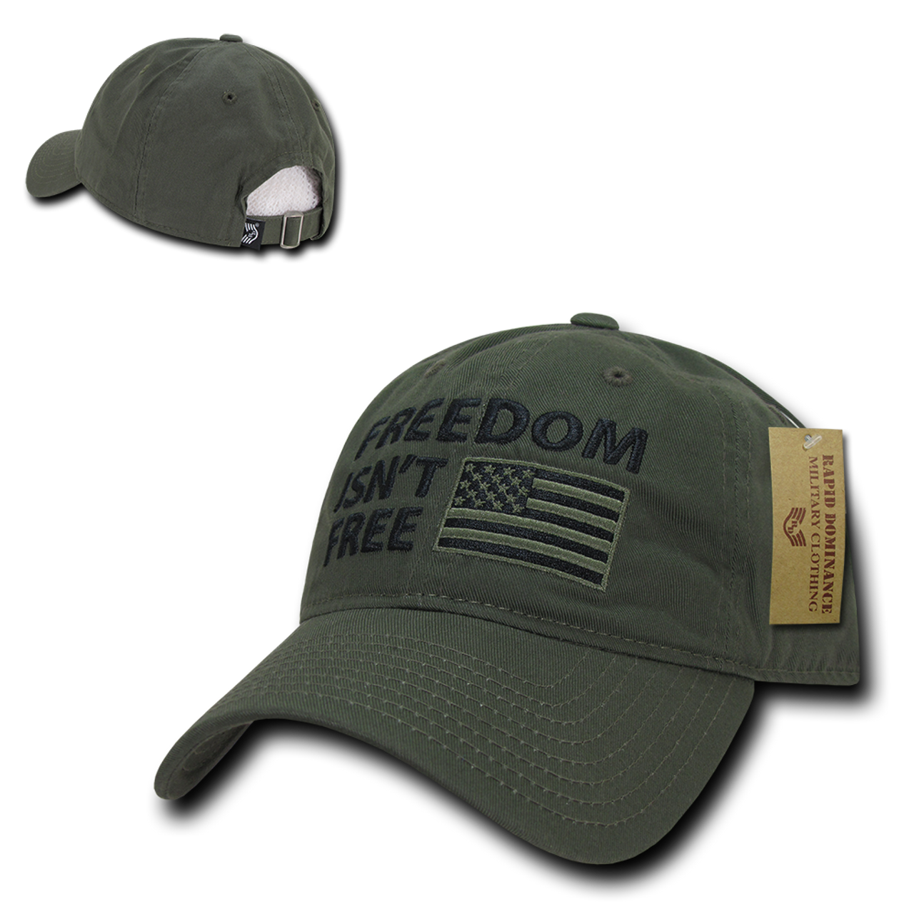... Olive  A03 - Patriotic Cap - Freedom Isn t Free - Relaxed - ... 1777bb2e5