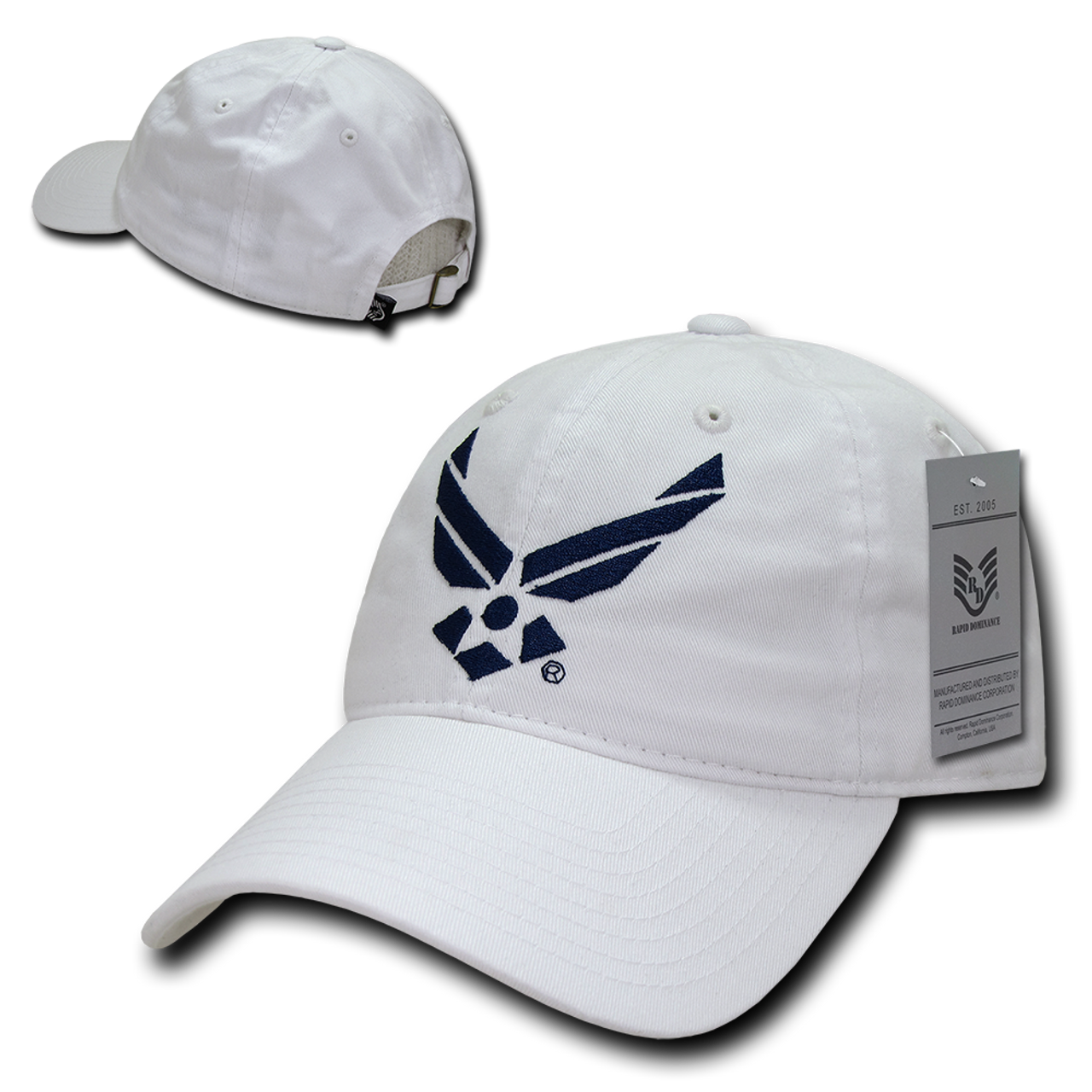 efa785eec1c ... S78 - Military Hat - U.S. Air Force Wings Cap - Relaxed Cotton - White  ...