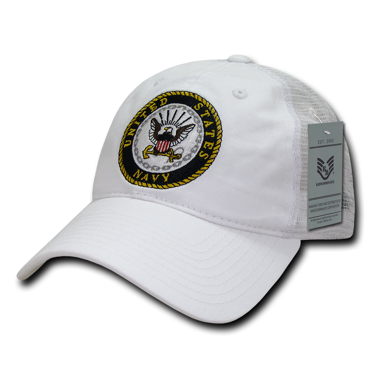 ... baseball cap with logo emblem 6a594 559b2  discount u.s. navy caps  trucker mesh white us military hats 37c08 6a796 bc0780b3aac8
