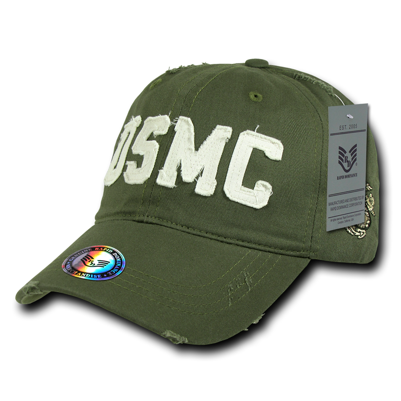 S84 - Vintage U S  Marine Corps Cap - Relaxed Cotton - Olive Drab
