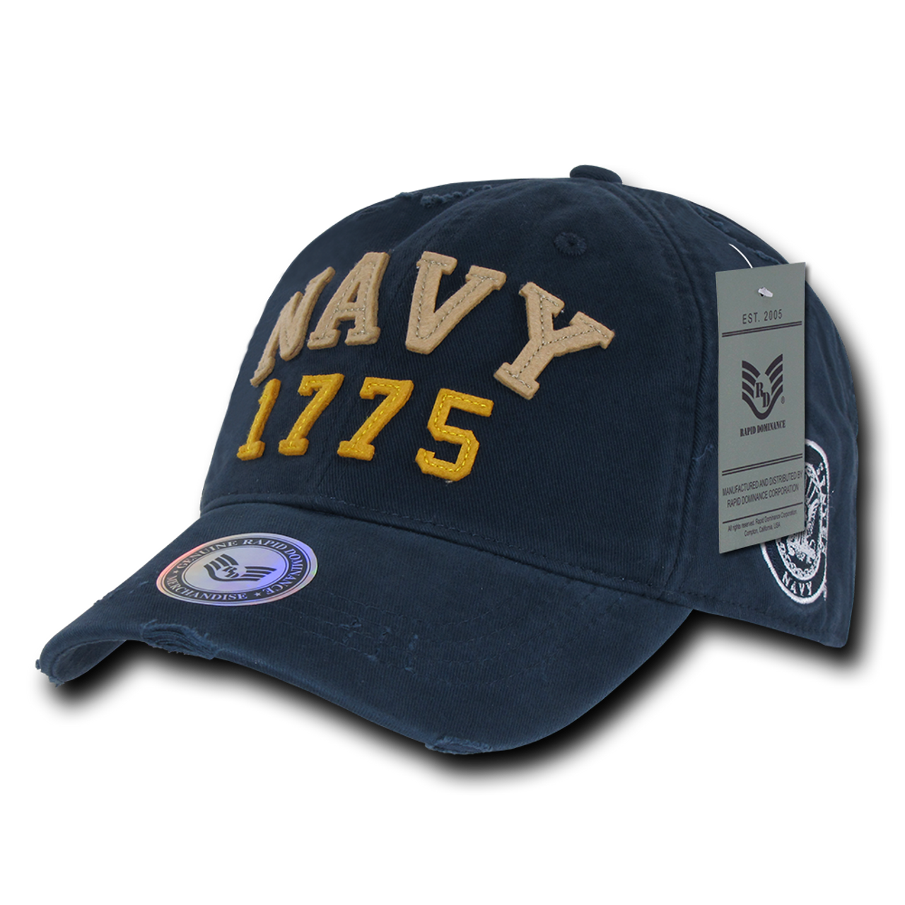 S80 - Vintage U S  Navy Cap 1775 - Relaxed Cotton - Navy Blue