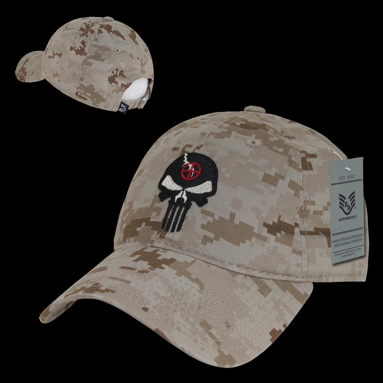 230e7e90 A03 - Punisher Skull Tactical Operator Cap - Relaxed Cotton - Desert  Digital Camouflage