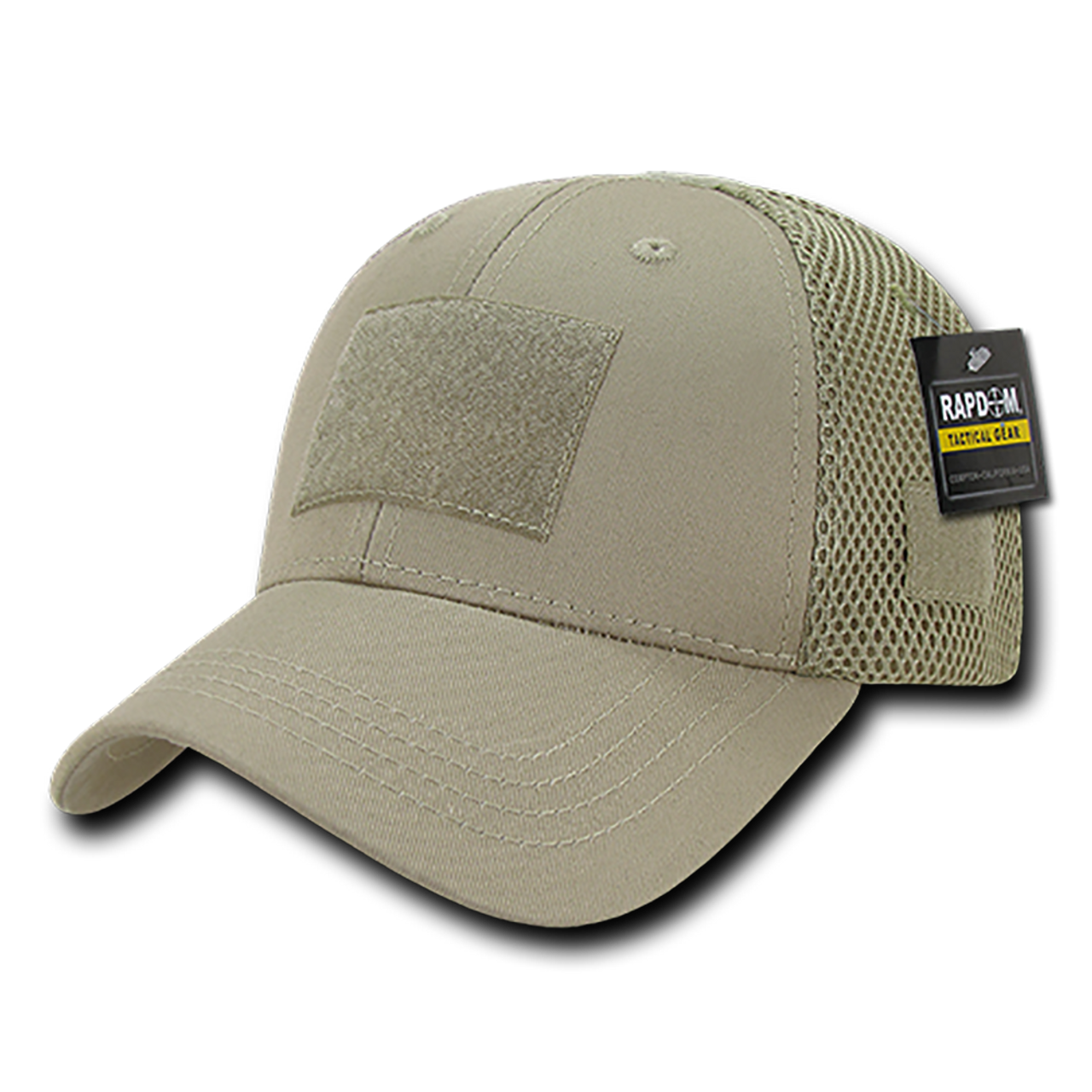 T80 - Tactical Cap - Low Crown Air Mesh - Khaki - USMILITARYHATS.COM 96eb502c7589