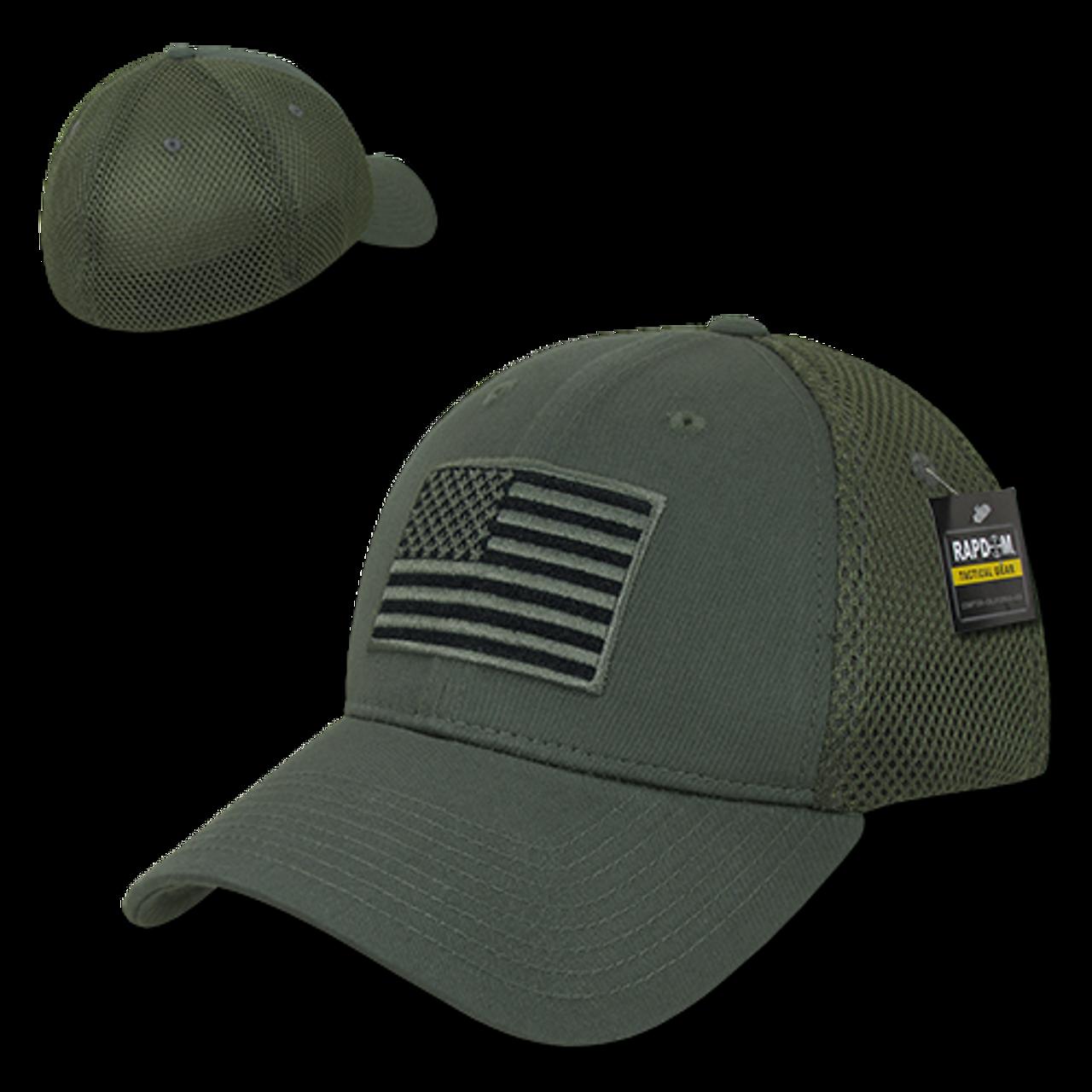 751c6bea251 T88 - Tactical Cap USA Flag - Low Crown Structured Air Mesh Flex - Olive  Drab - USMILITARYHATS.COM
