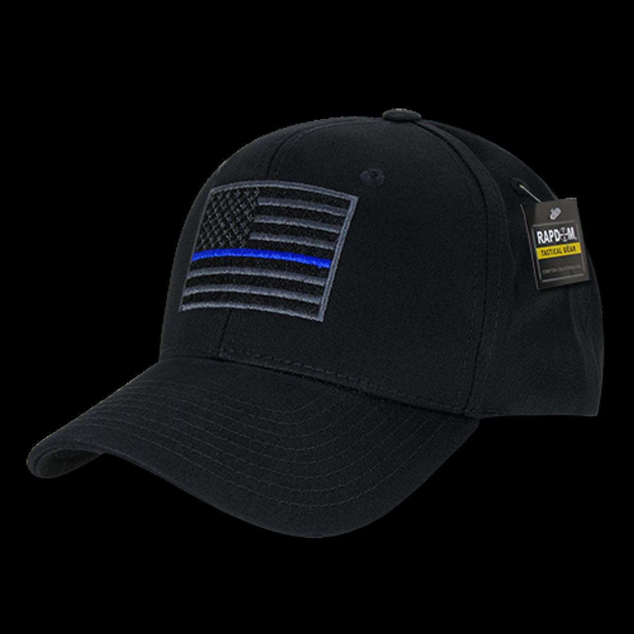 Navy USA American Flag Thin Blue Line Tactical Operator Cotton Baseball Cap Hat