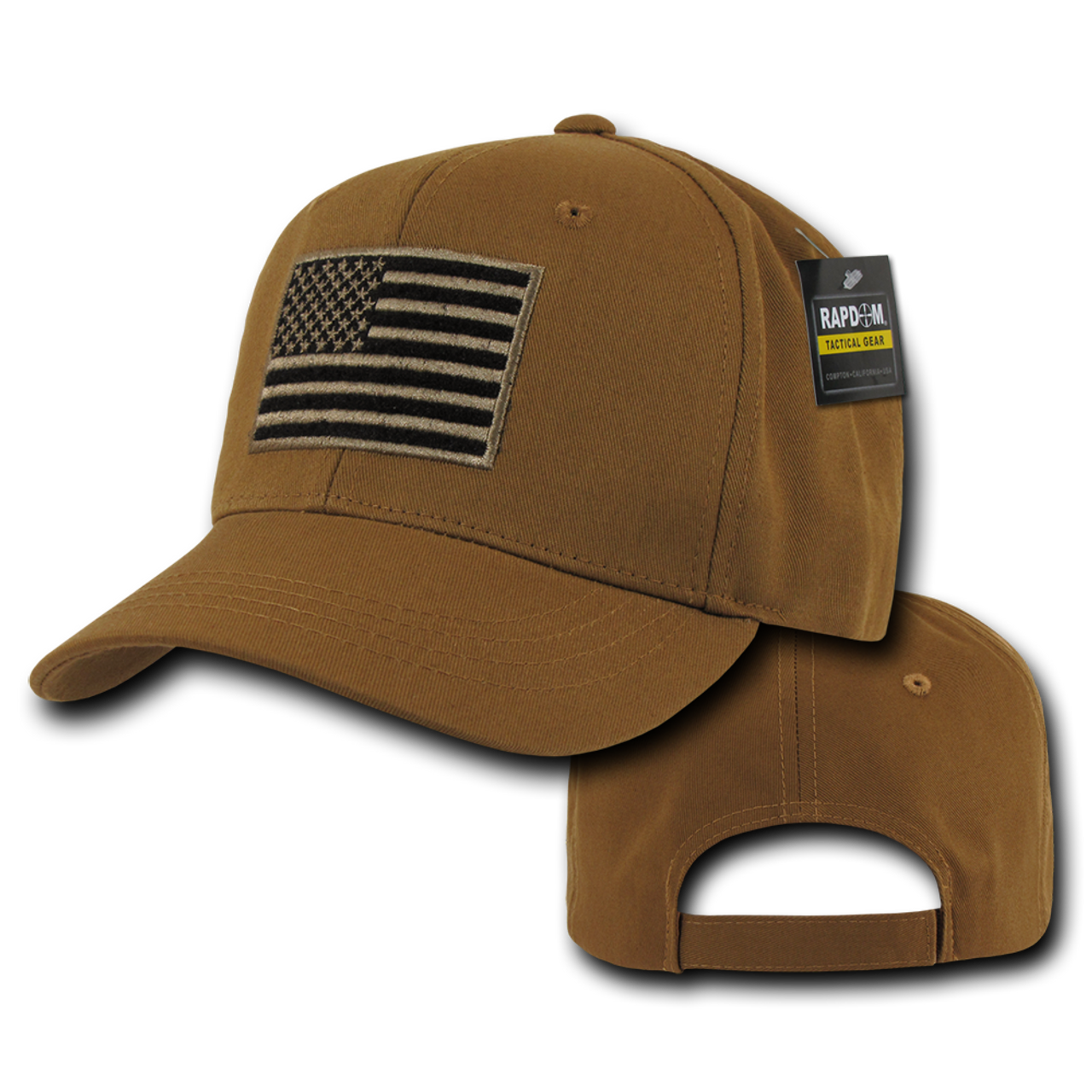 02a1dfd9e T76 - Tactical Operator Cap - American Flag Subdued - Coyote
