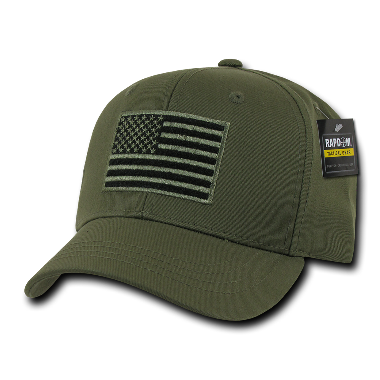 b8e60bbcd T76 - Tactical Operator Cap - American Flag Subdued - Olive Drab