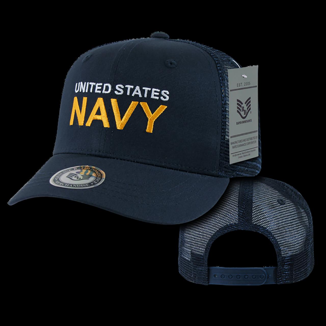 S77 - U.S. Navy Cap - Back to Basics - Trucker Mesh - Navy -  USMILITARYHATS.COM 18522926766