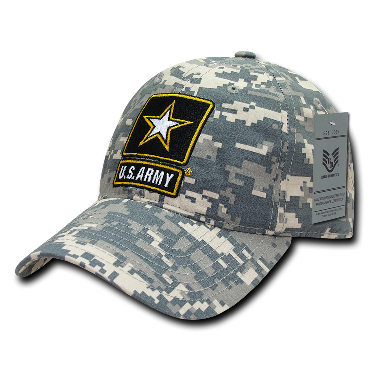 1222387fe2b S74 - Army Cap - Relaxed Ripstop Cotton - ACU Digital Camouflage - U.S. Military  Hats.com