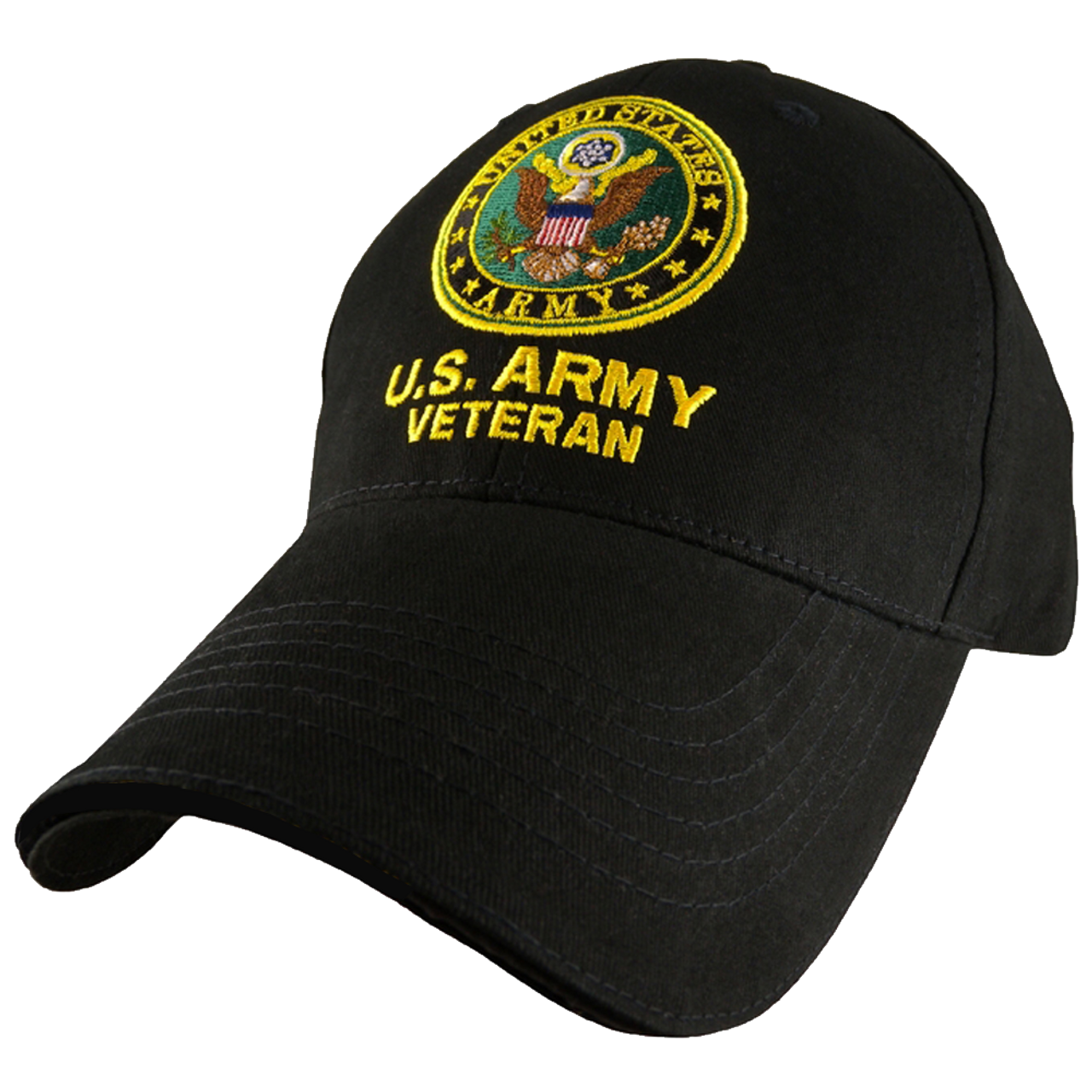 Black Eagle Crest U.S Army Veteran Baseball Cap