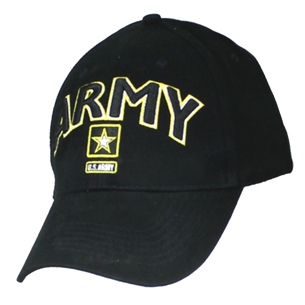 aec9ee51f0e Eagle Crest 6468 - Army Cap - Star Logo - Cotton - Black