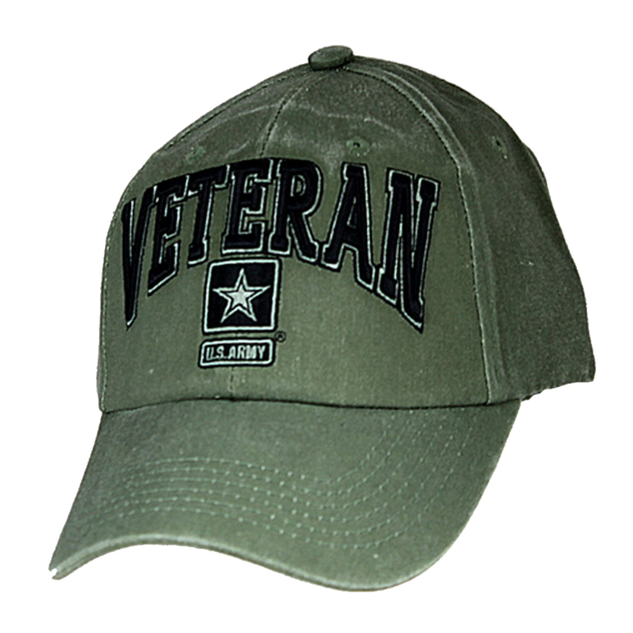 1f2cbcc549a Eagle Crest 6491 - Army Veteran Cap - Star Logo - Cotton - OD Green