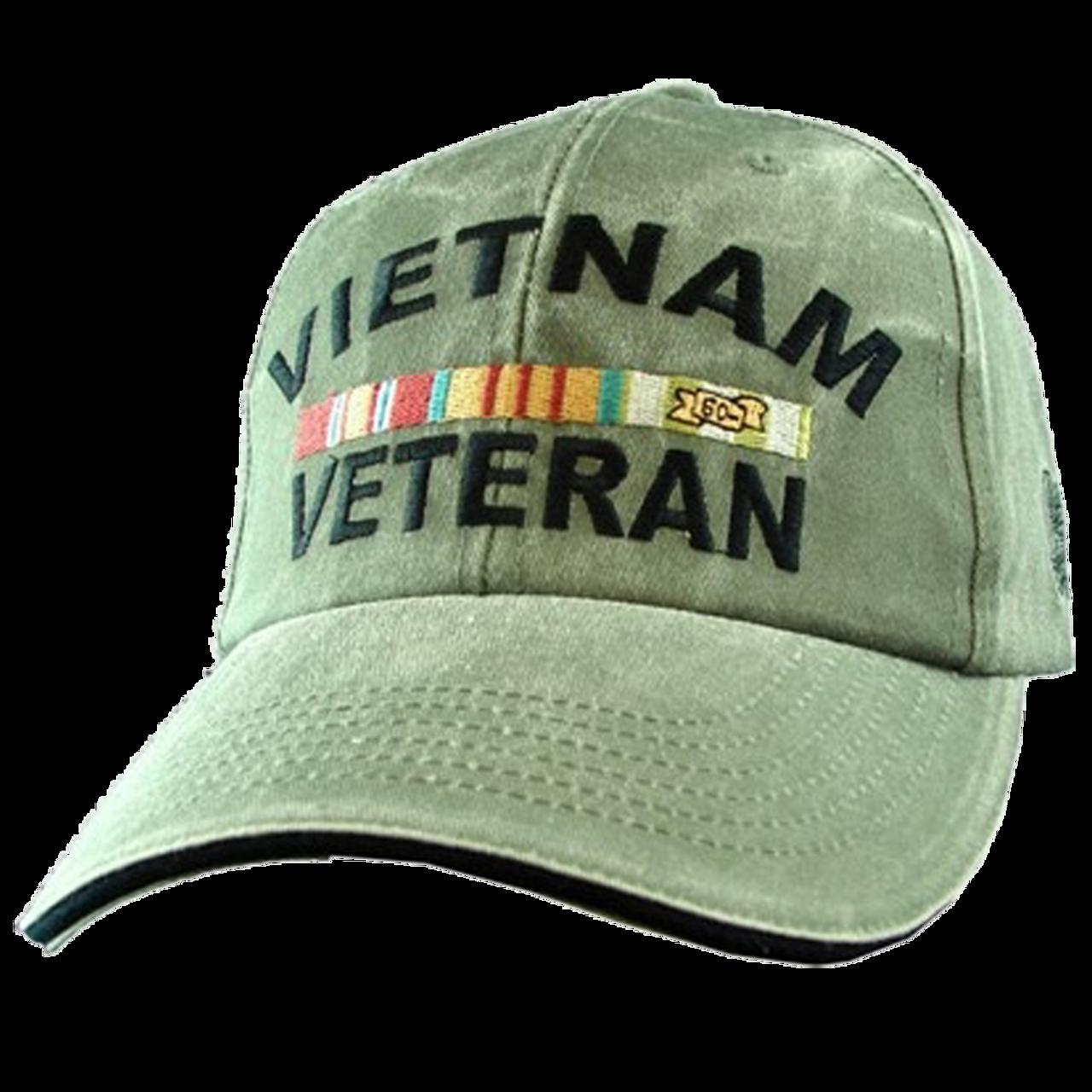 b6e44e4a379a6 Eagle Crest 5627 - Vietnam Veteran Cap - Cotton - OD Green