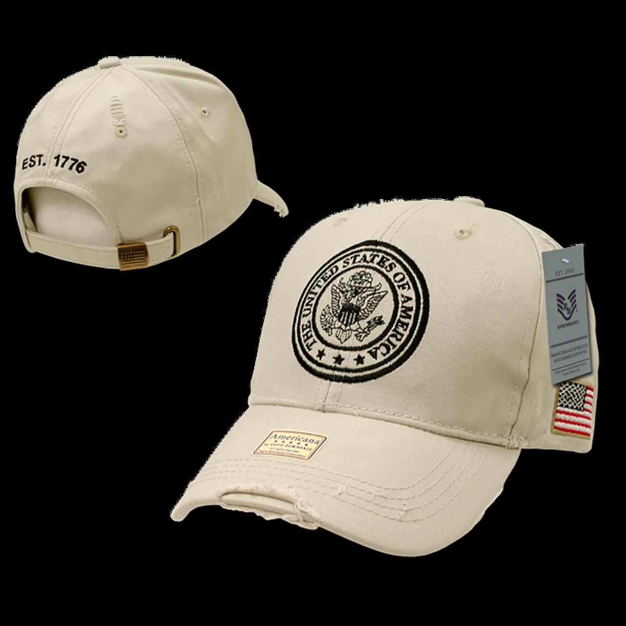 A01 - USA Cap - Vintage - Stone