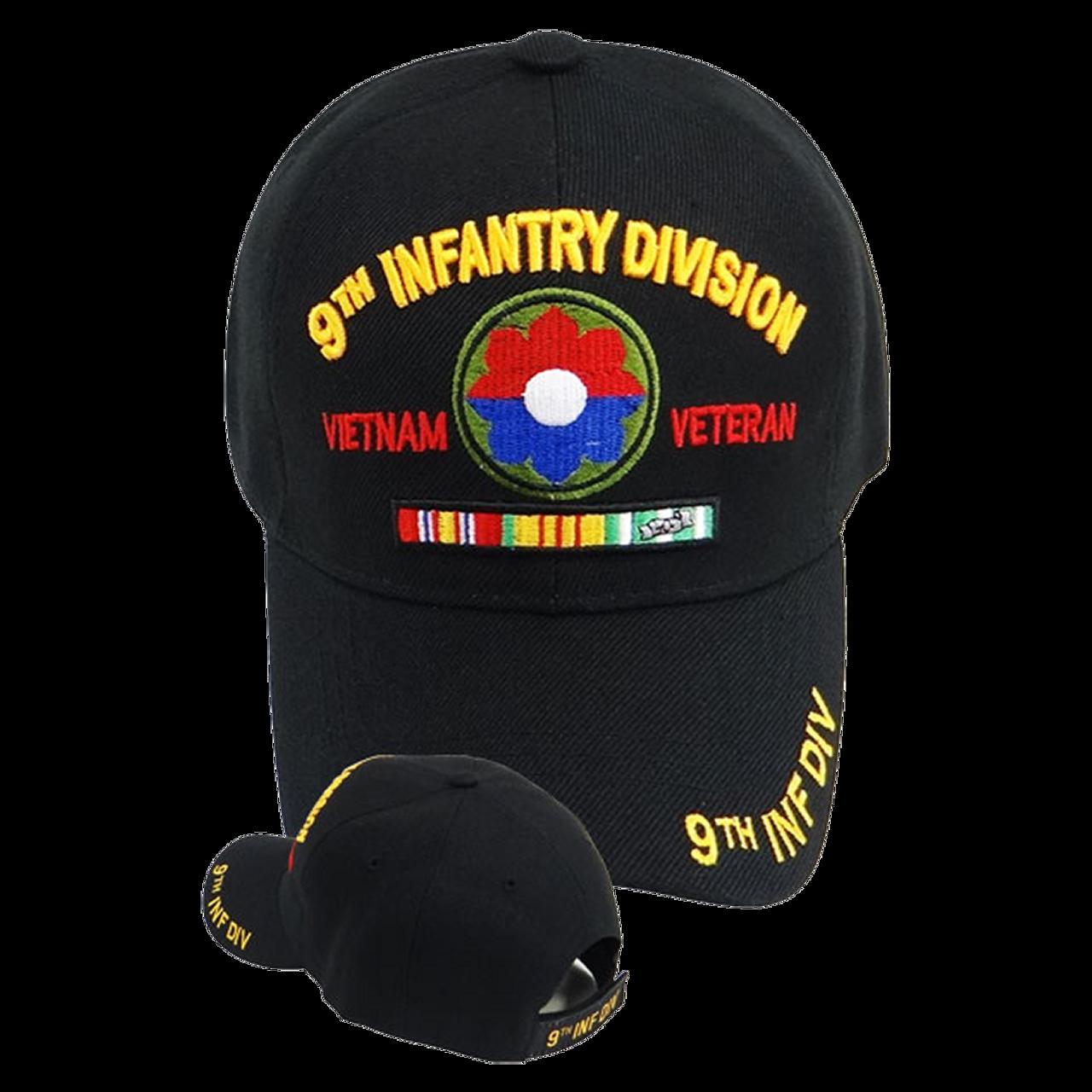 0616a3a2c58 Vietnam Veteran Caps 9th Infantry Division - US Military Hats
