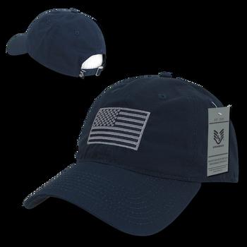 S73 - USA Flag Cap - Relaxed Ripstop - Cotton - Dark Blue 4231514824d