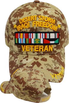 4c05eac10a9 Desert Storm Iraqi Freedom Veteran Cap - Desert Digital Camouflage