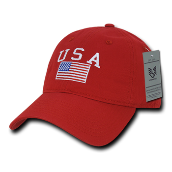 32885989e822 A03 - USA Flag Cap - Relaxed Fit - Cotton - Black - USMILITARYHATS.COM